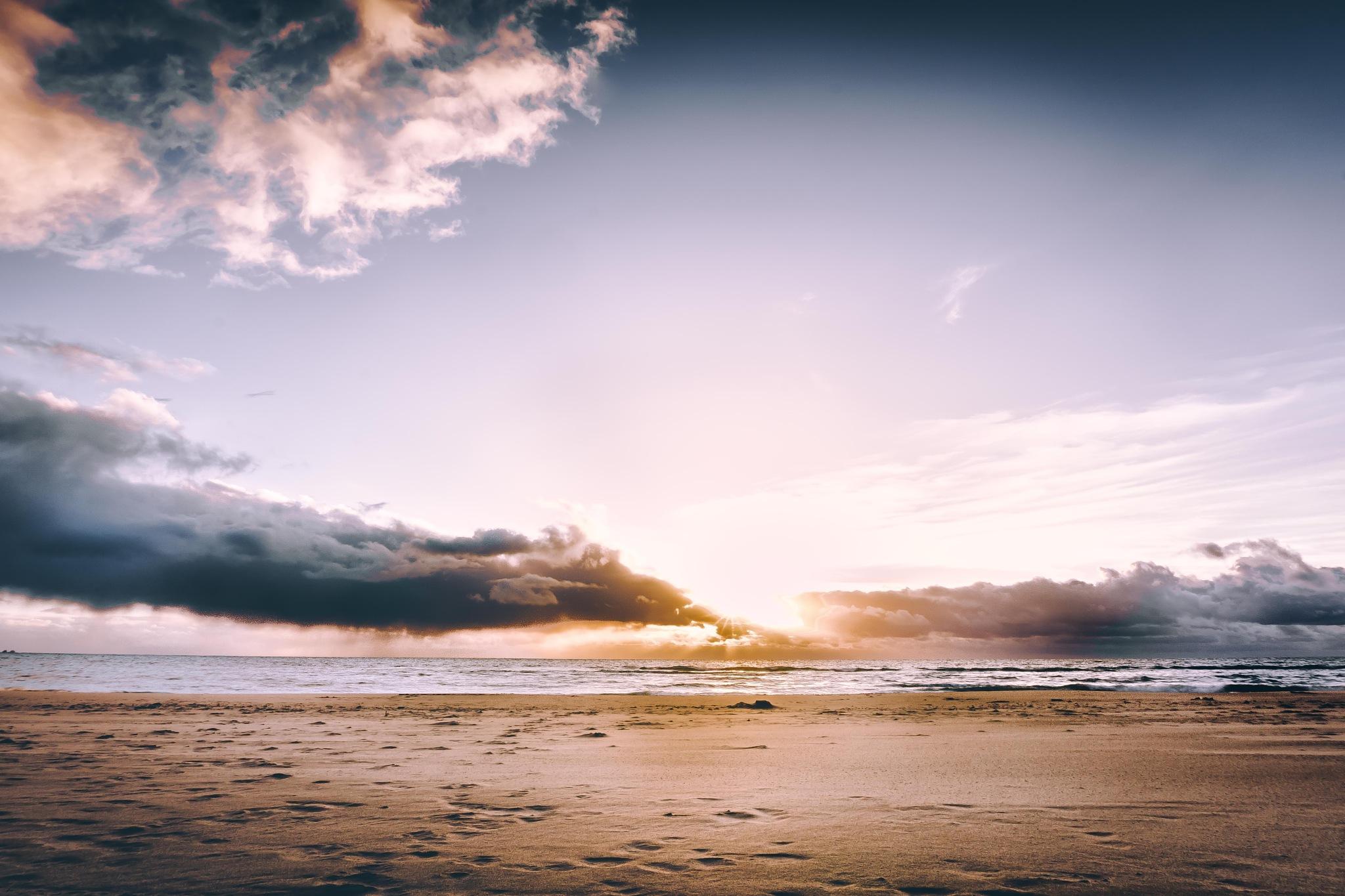 Behind the clouds by Peter van der Waard
