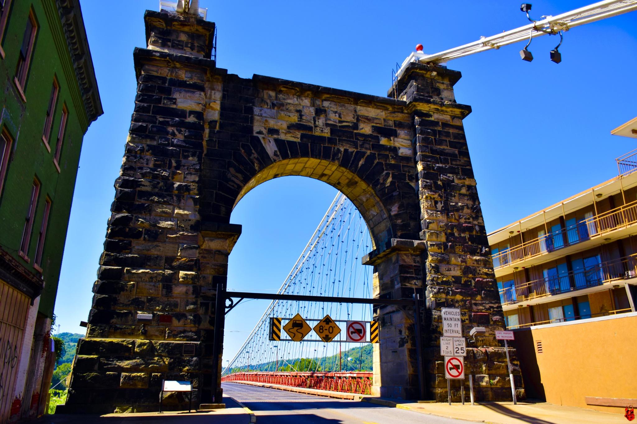 Wheeling Suspension Bridge by triple7