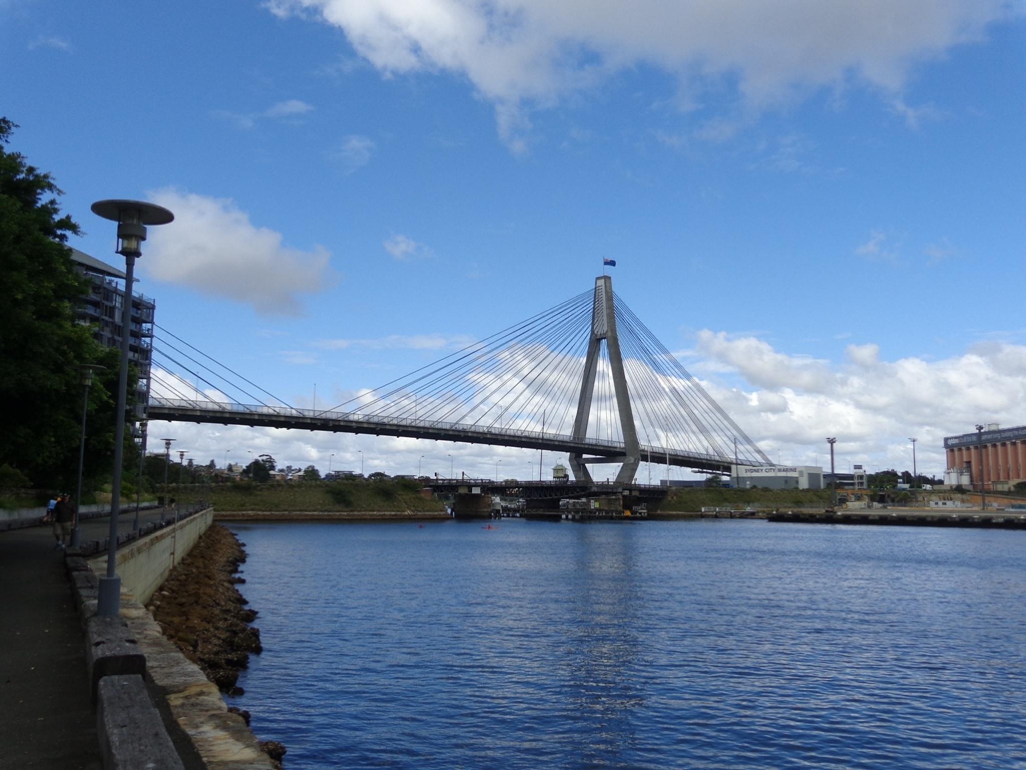 ANZAC Bridge from Pyrmont by David Hatley