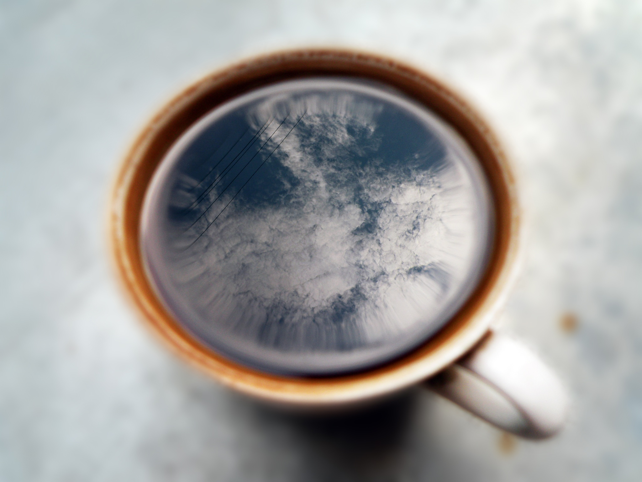 Cup of coffee with foam cloud by Alexandr  V. Seleznov