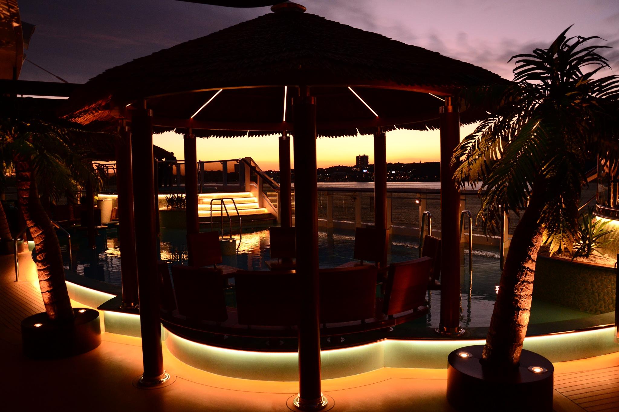 Havana pool at sunset by Phillip Triantos Triantafillou
