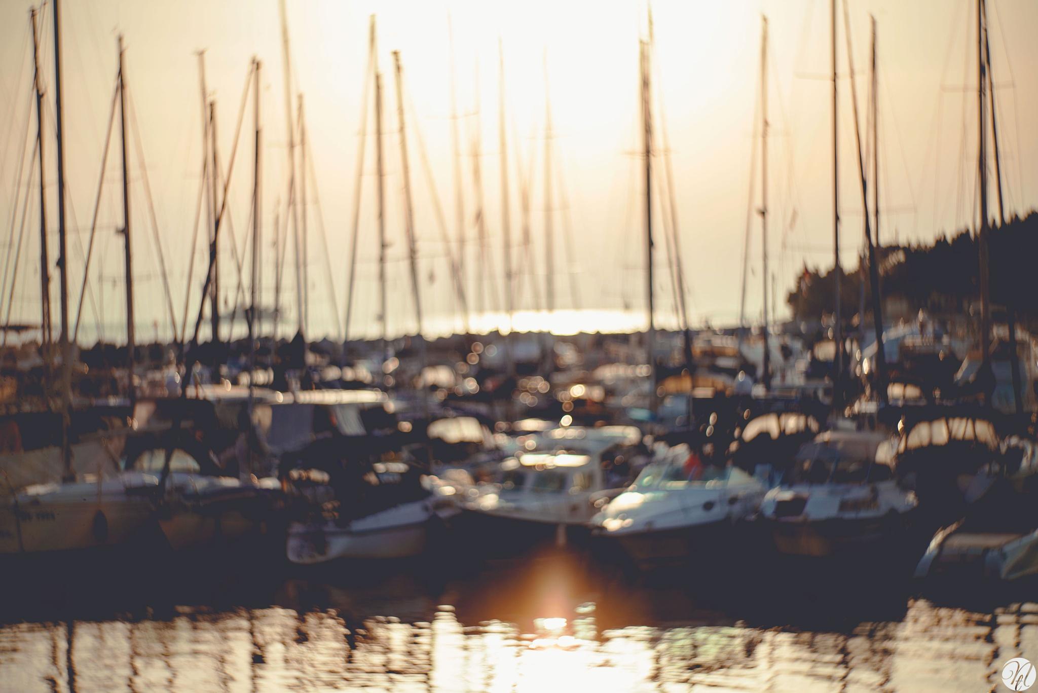 Sunset Boats by teodoranenadov