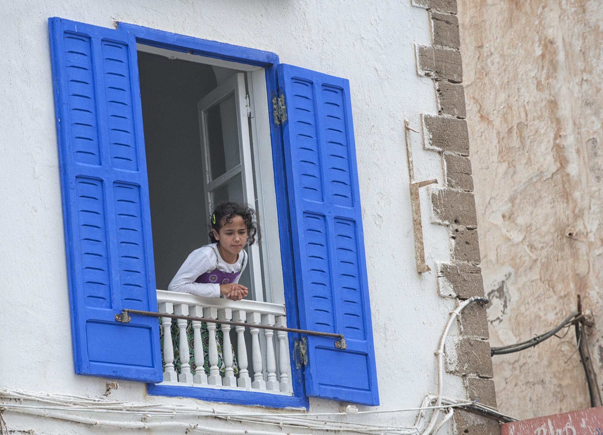 Young girl at a window. by desmcmahon5