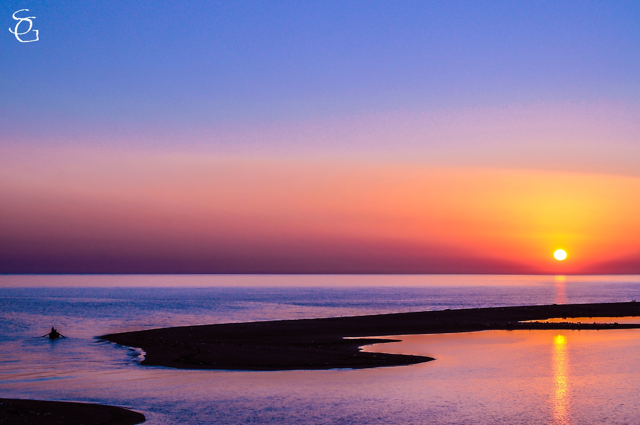 Sunset in Anaklia by Sergi Grigorian