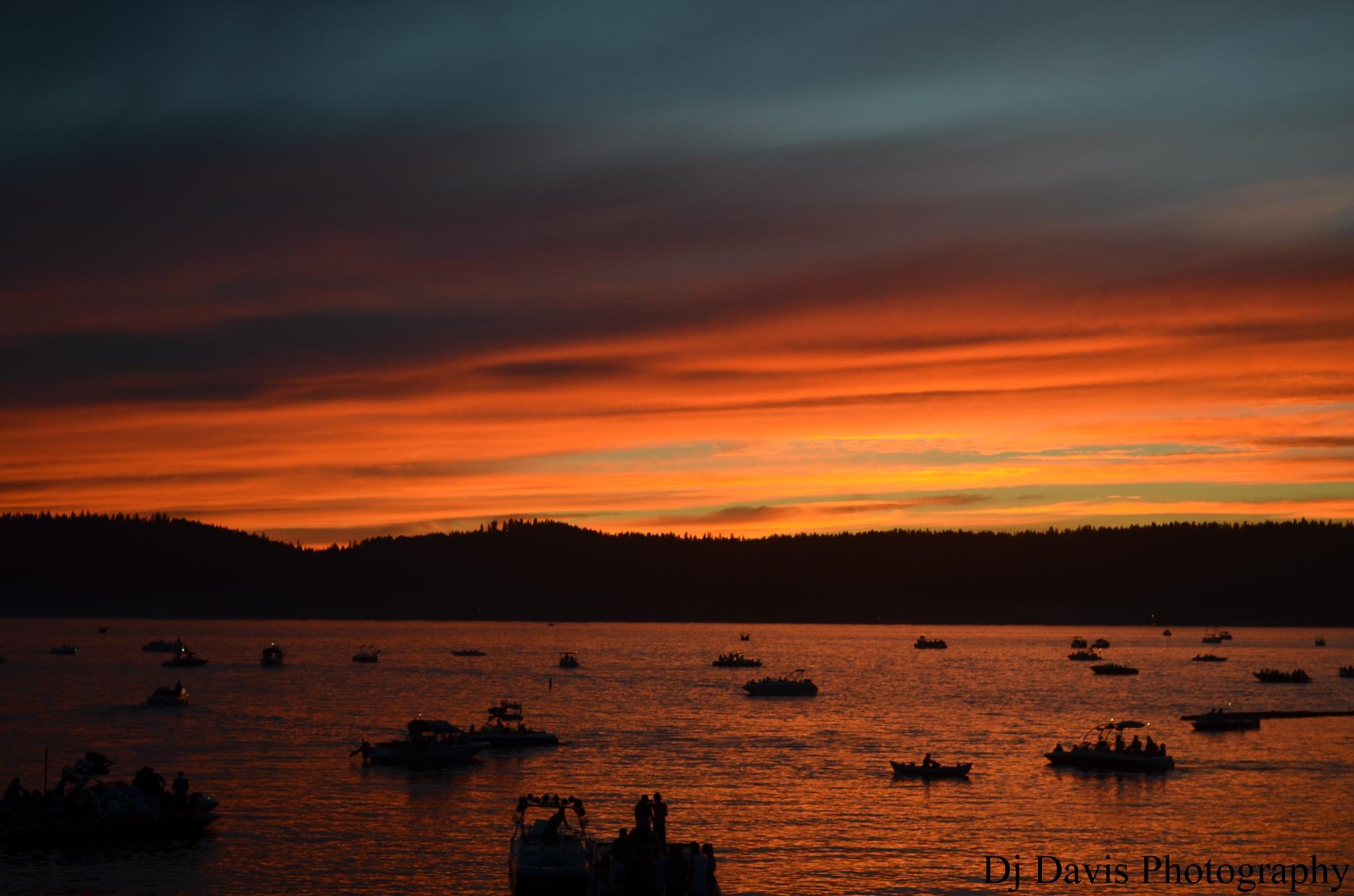 Sunset over McCall by D.j. Davis