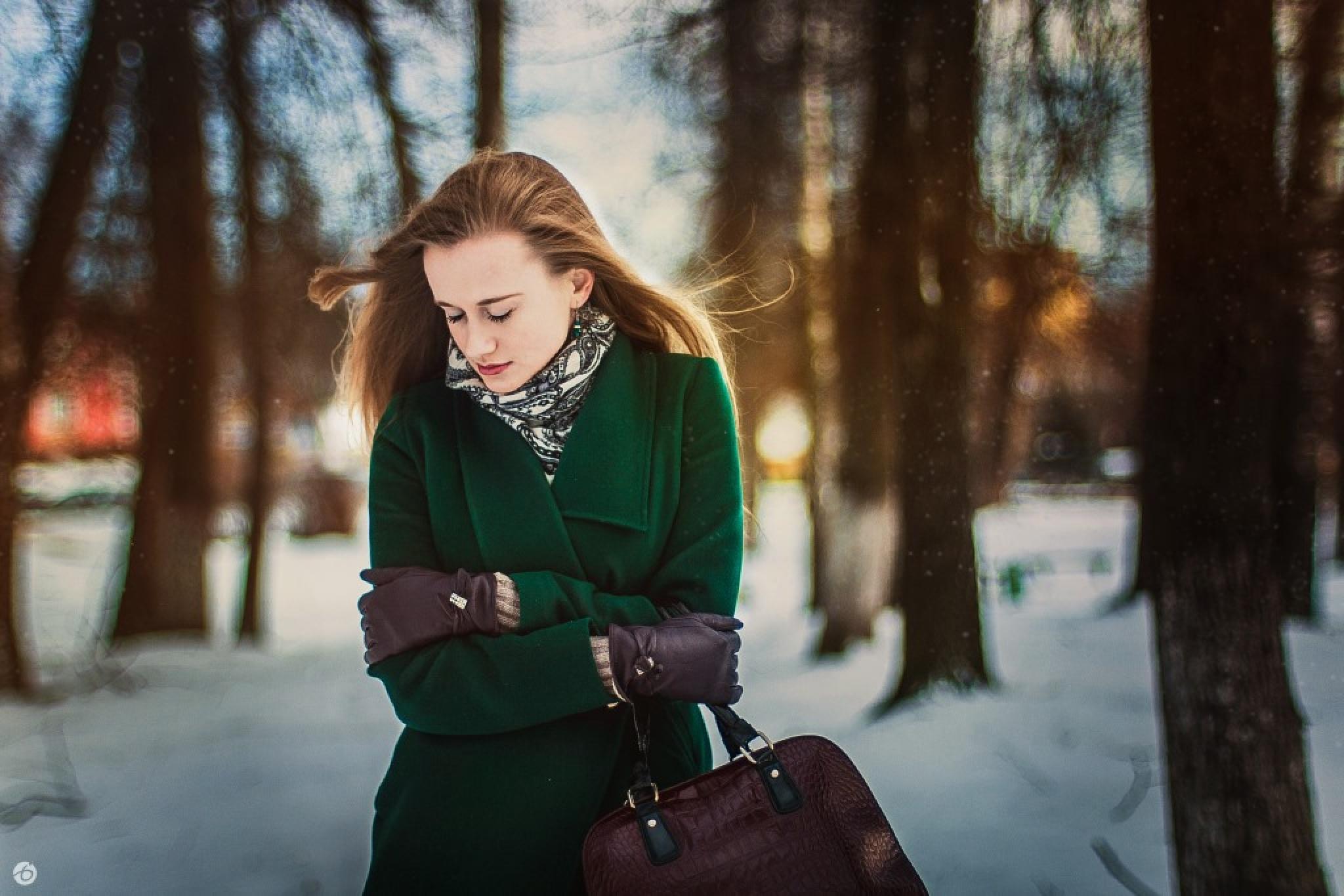 Frozen girl by inness