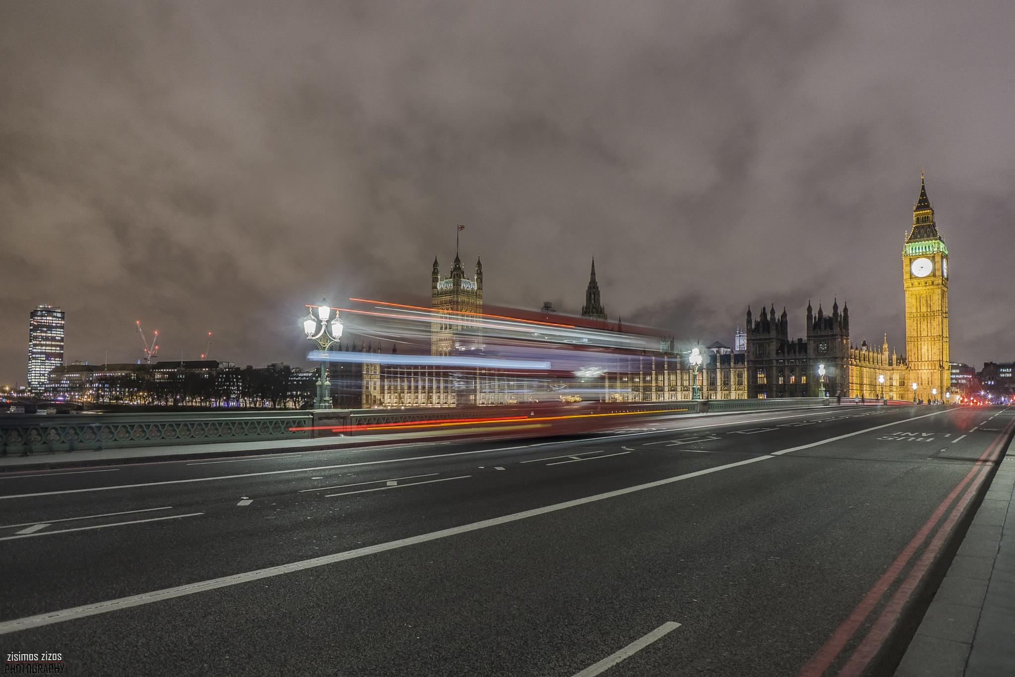Westminster Bridge and Big Ben by Zisimos Zizos