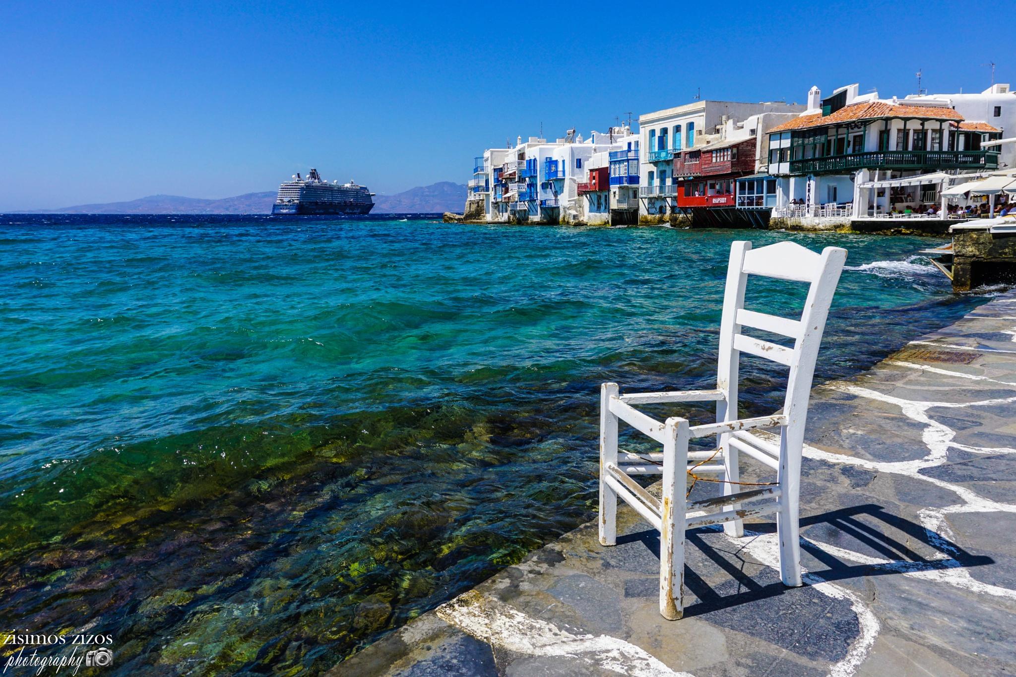 Little Venice, Mykonos by Zisimos Zizos