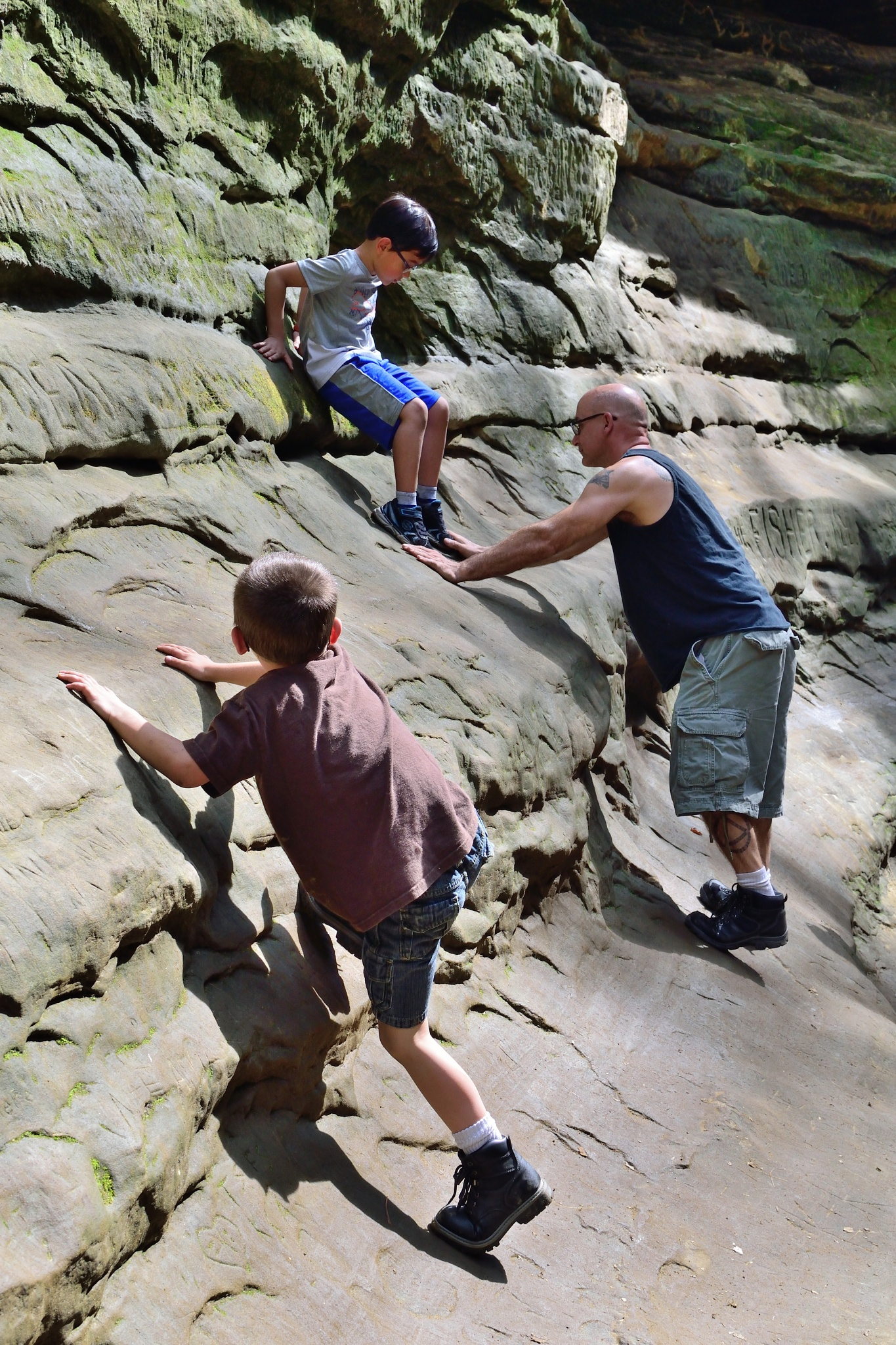 Photo in Street Photography #candid photography #adventures #starved rock state park #rock climbing #people #exploring #human interactions #magnum photos