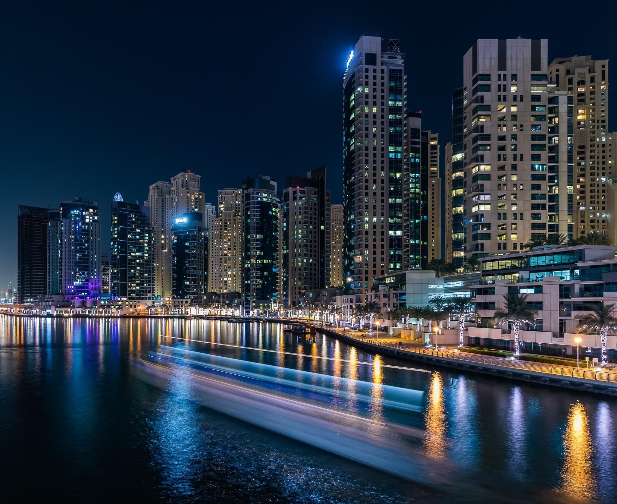 Dubai Marina by Mohammed Shamaa