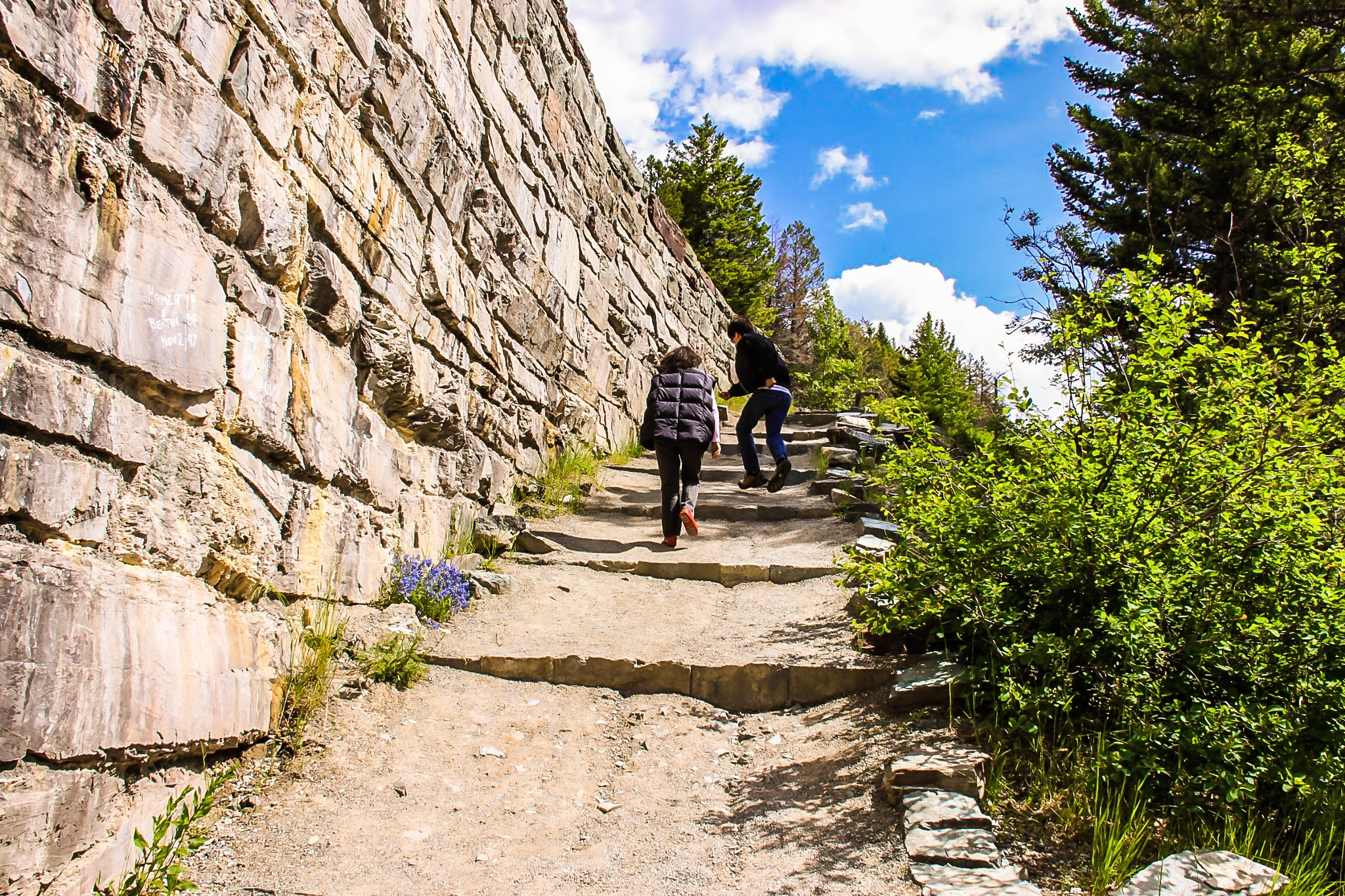 Glacier national Park skipping stairs by BillBarnes