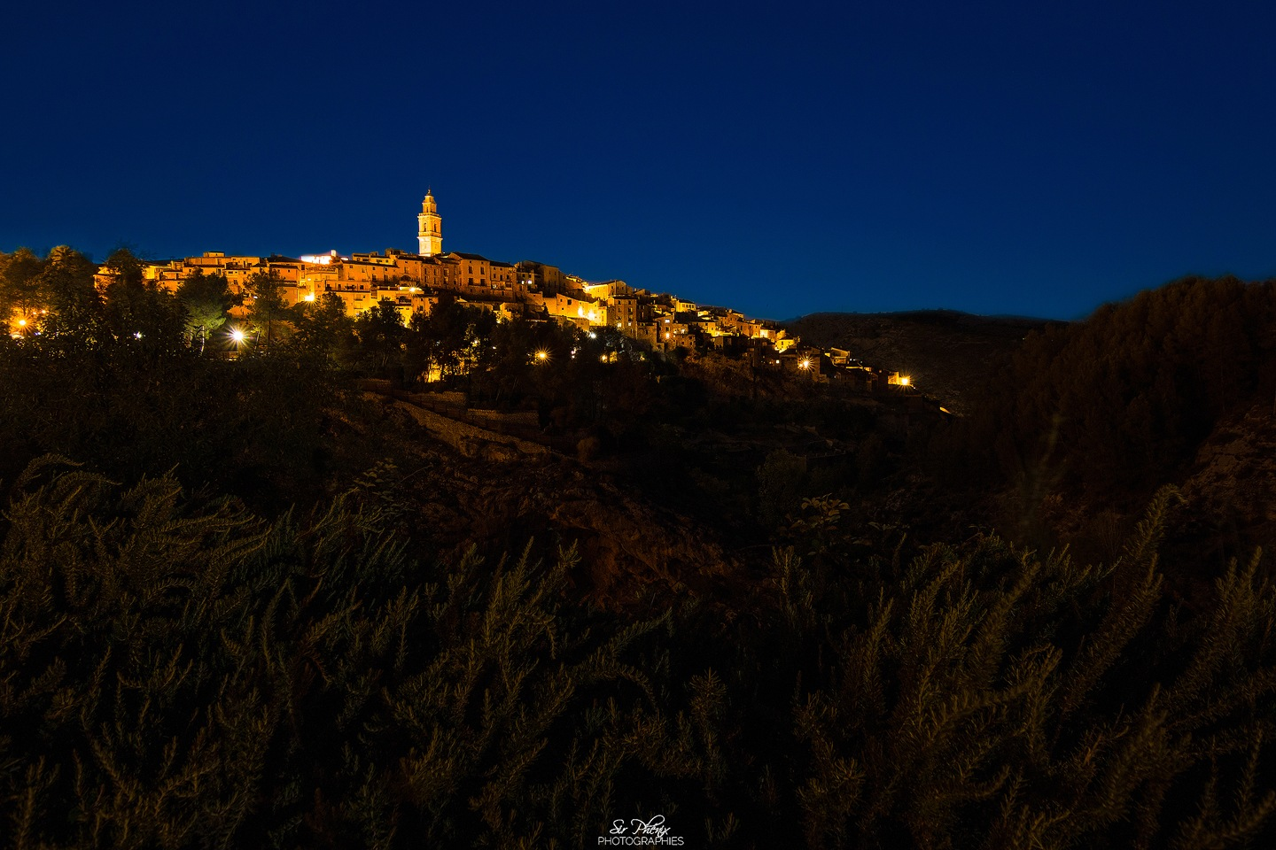 Bocairente town at blue hour by SirPhenix