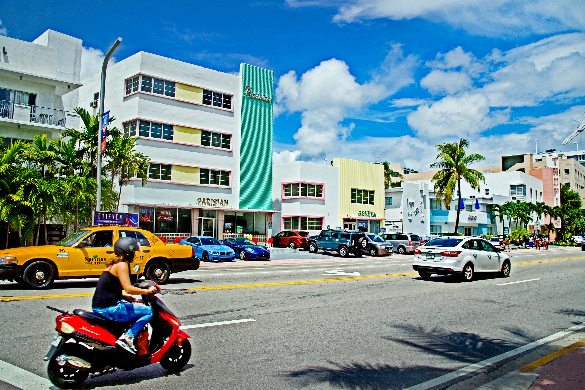 On The Streets of South Beach by TINIAN