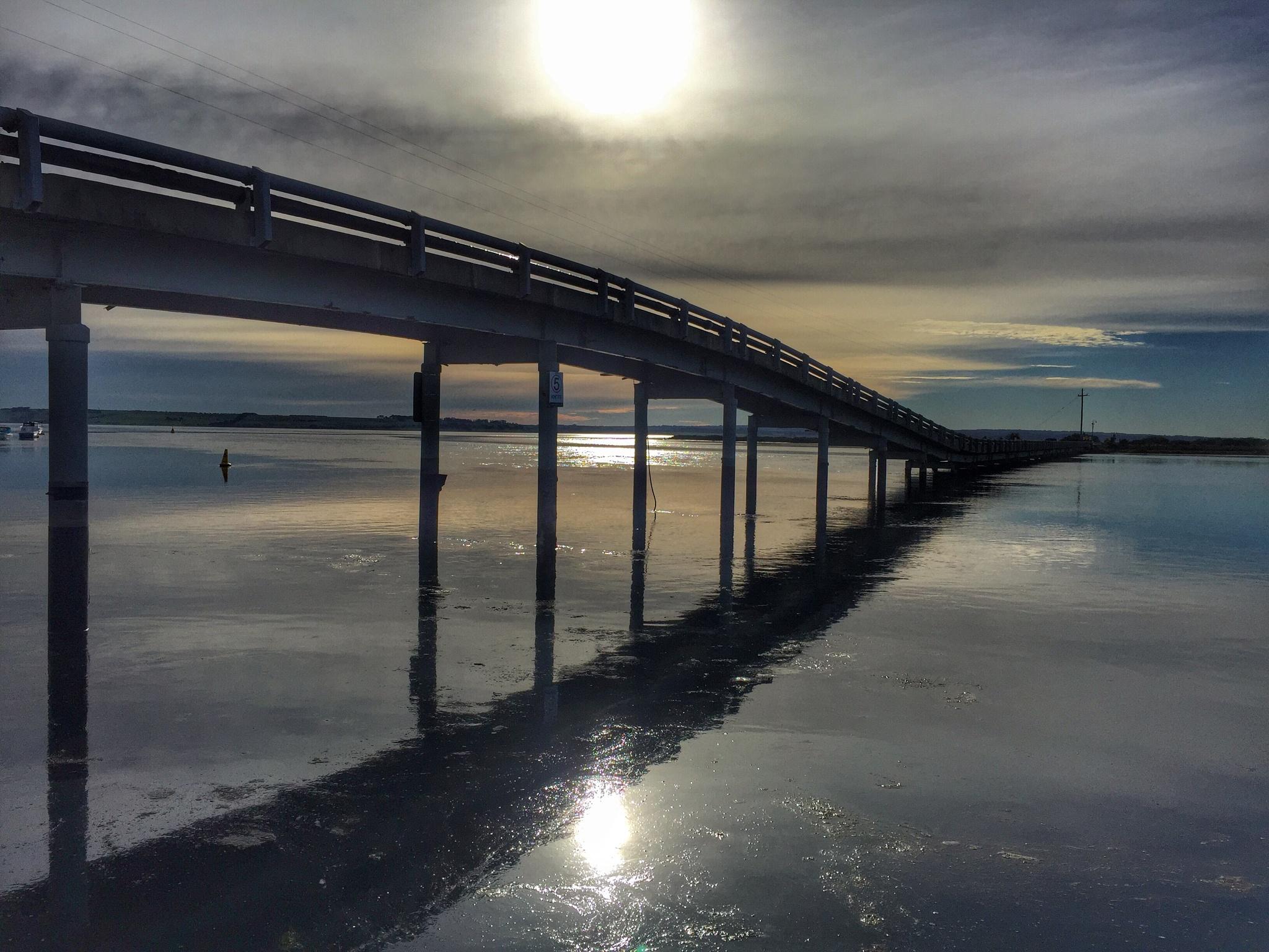 Swan Bay Bridge, Queenscliffe by Carole Walker