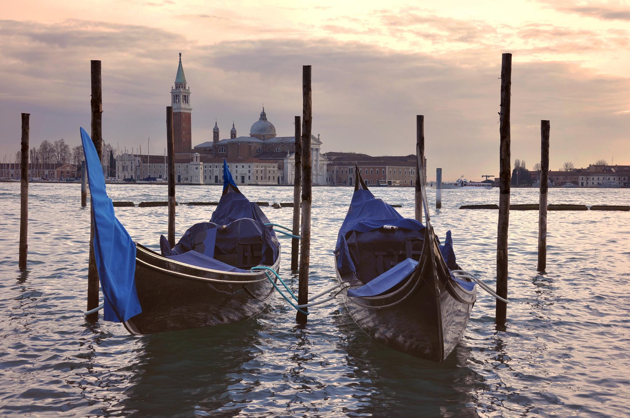 Waiting gondolas by rachelphillips100