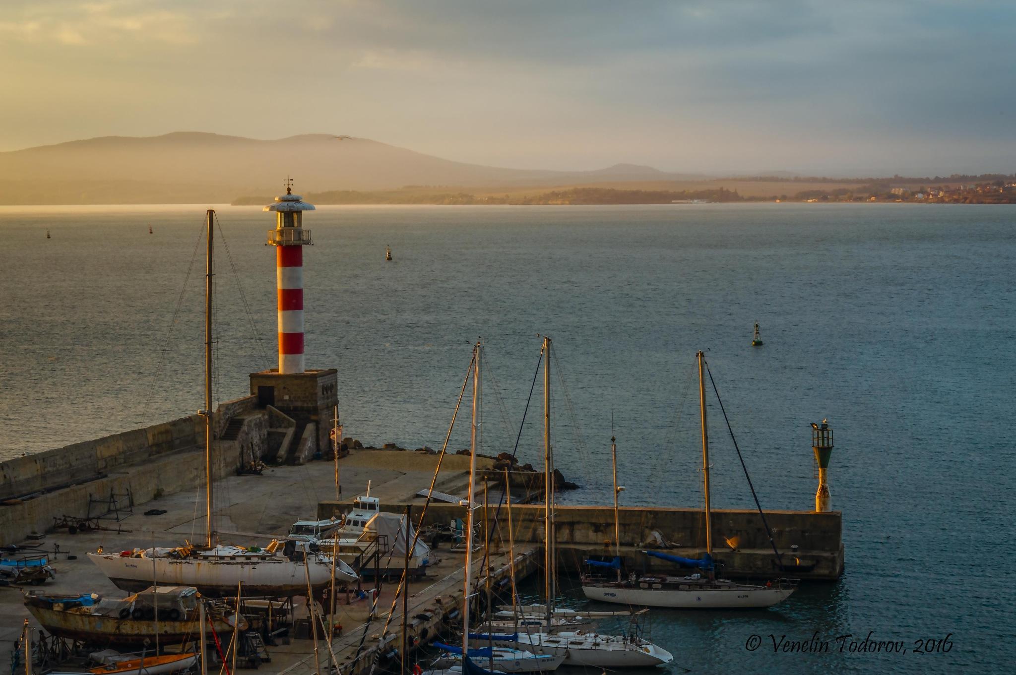 Morning in the Marina Burgas by Venelin Todorov