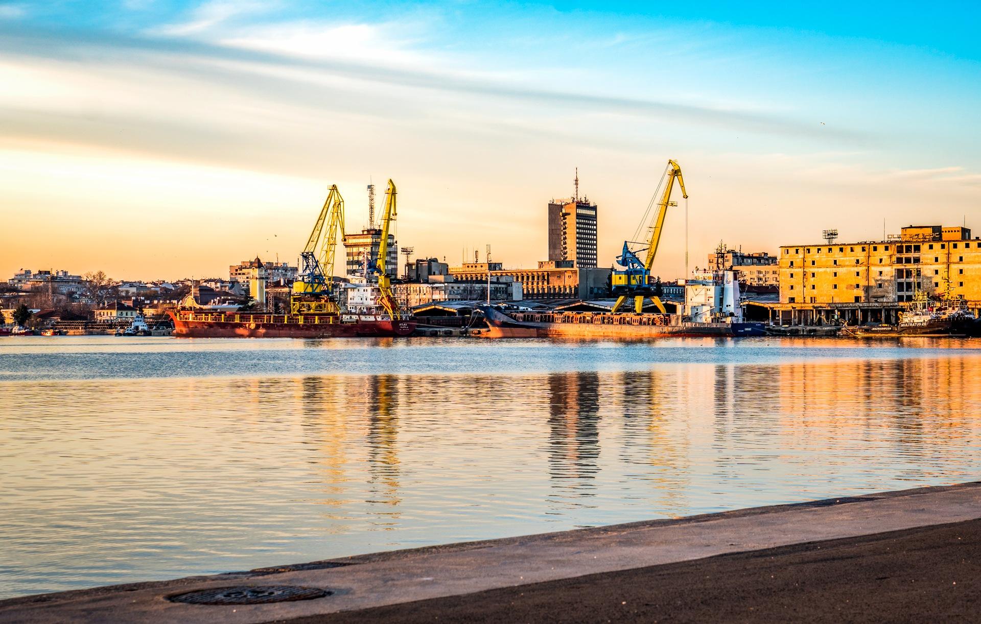 Port of Burgas by Venelin Todorov