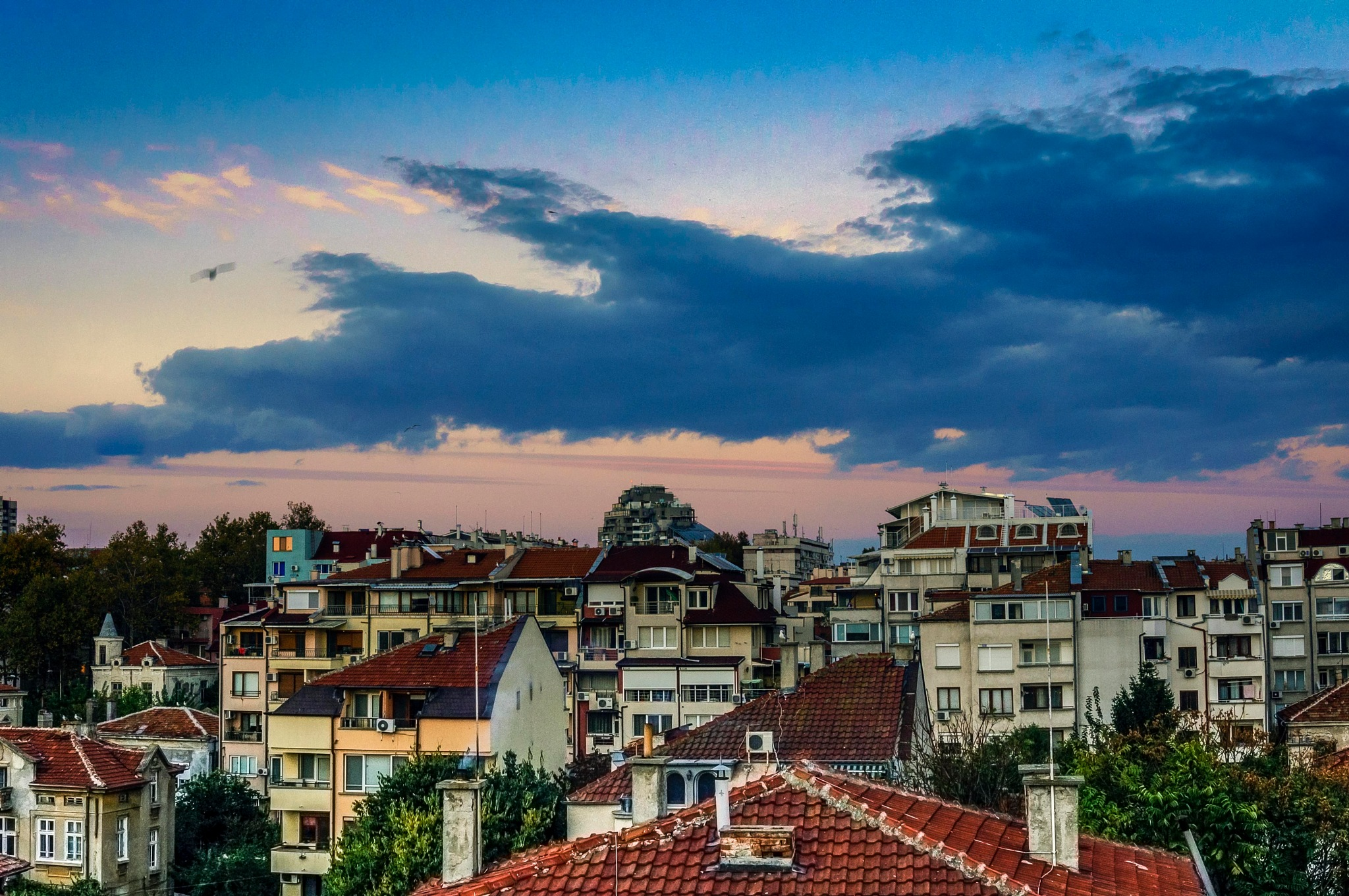 Sunset above roofs of Burgas_1 by Venelin Todorov