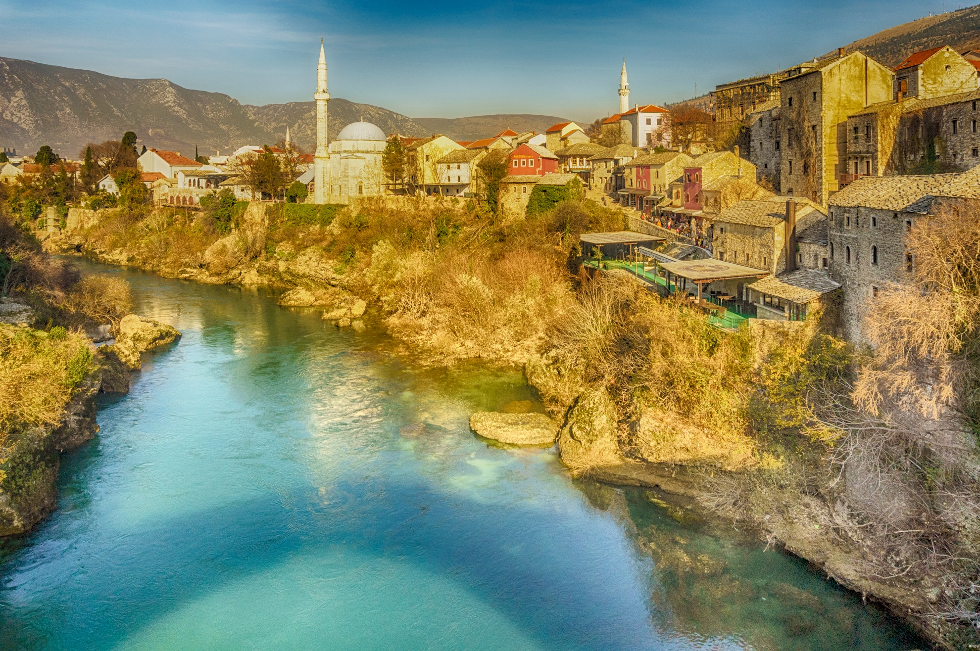 Photo in Cityscape #mostar #riveer #cityscape #mosques