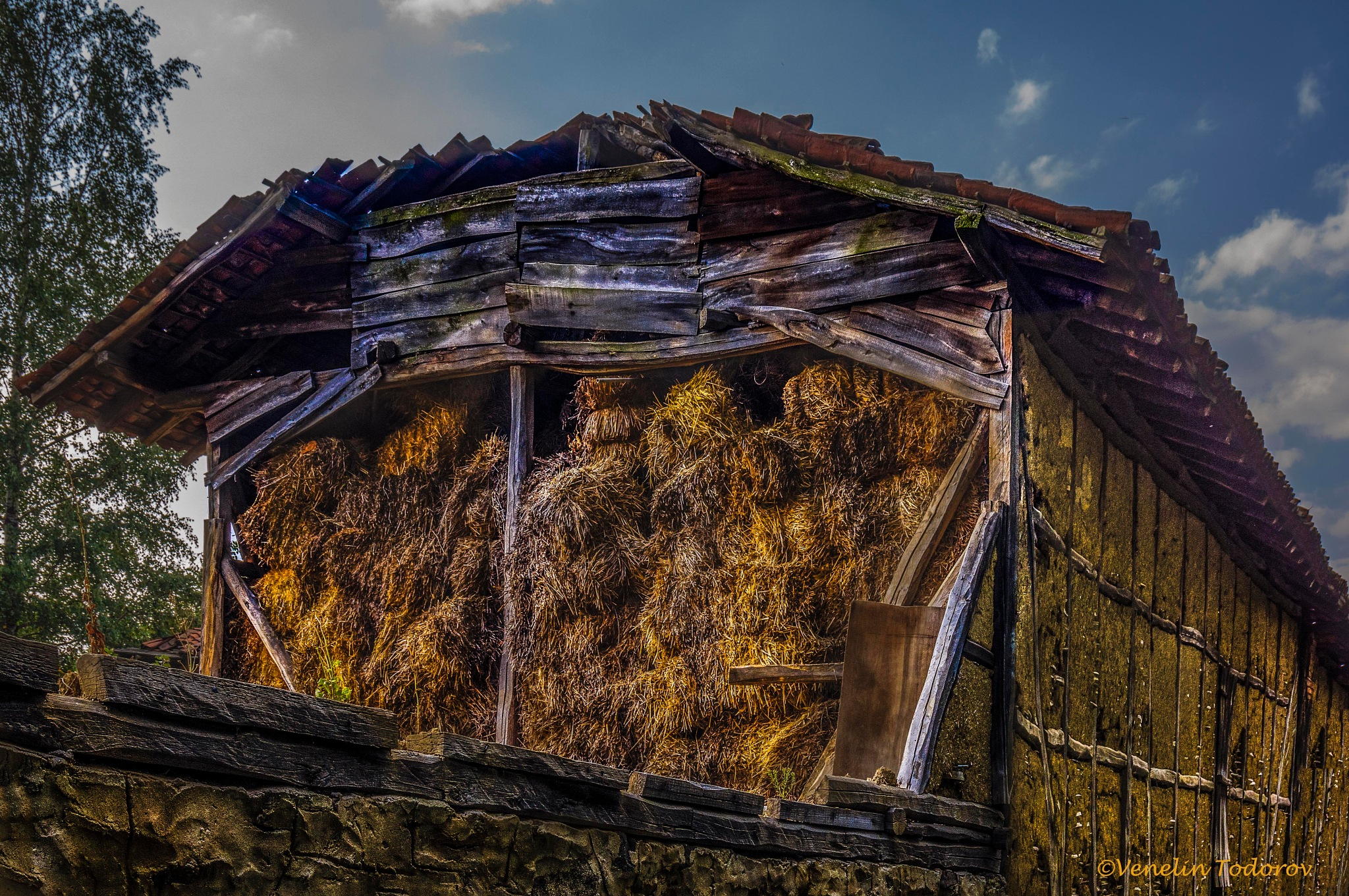 Photo in Rural #barb #old #rural #straw #building