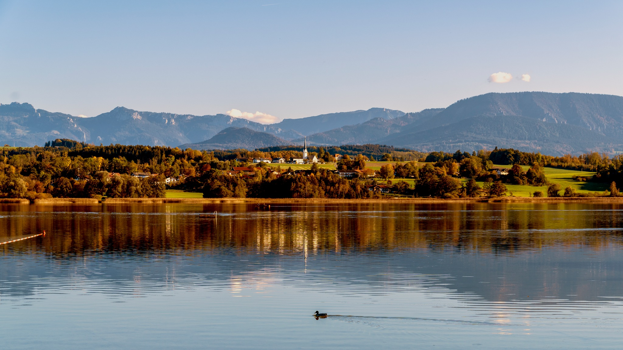 Autumn in Simssee by Venelin Todorov