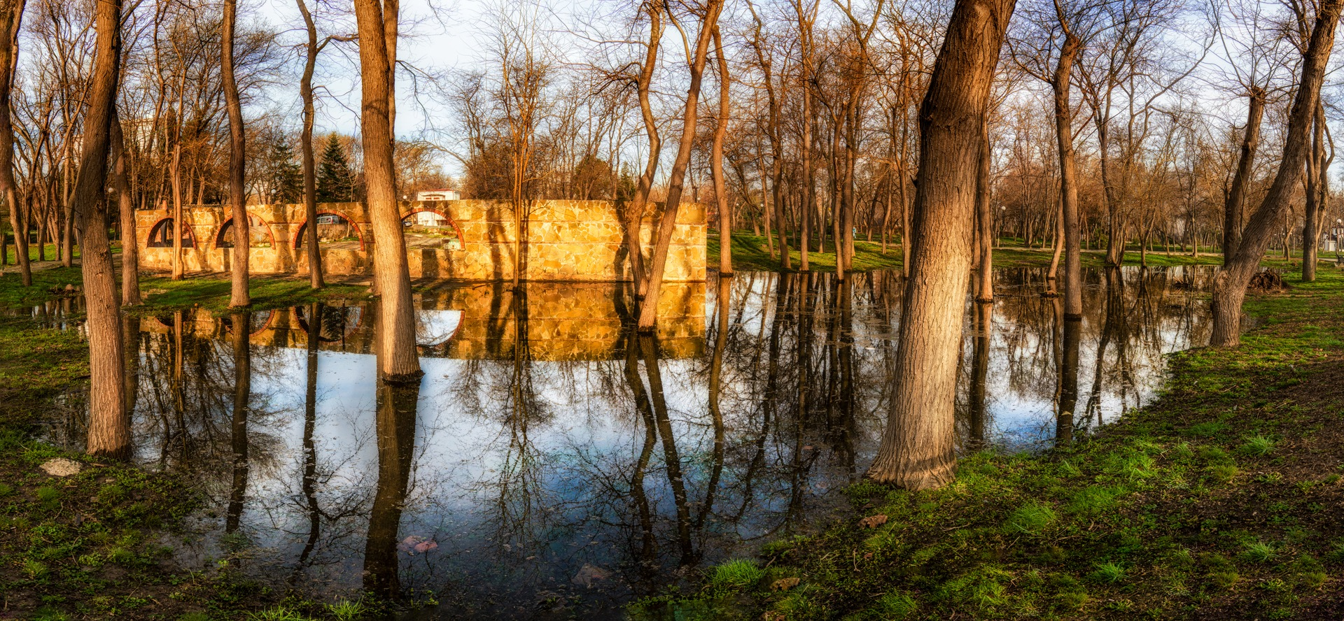 Panorama- park reflections  by Venelin Todorov