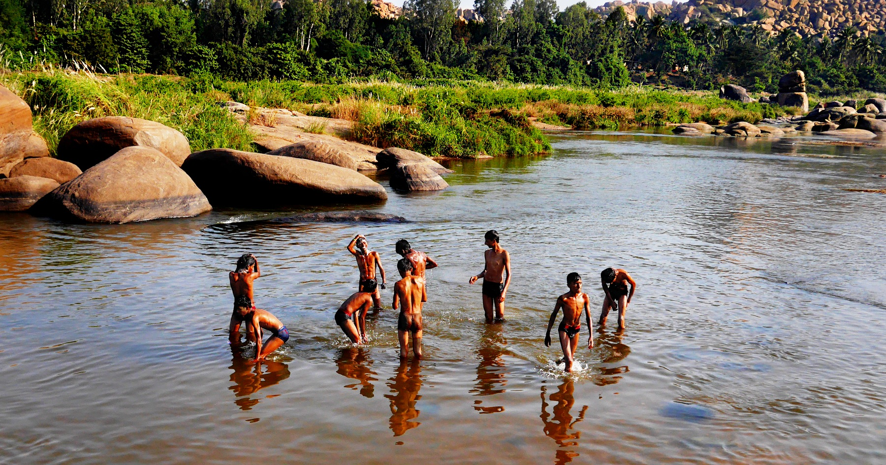 Tungabhadra River Ablutions by Fred Obermann