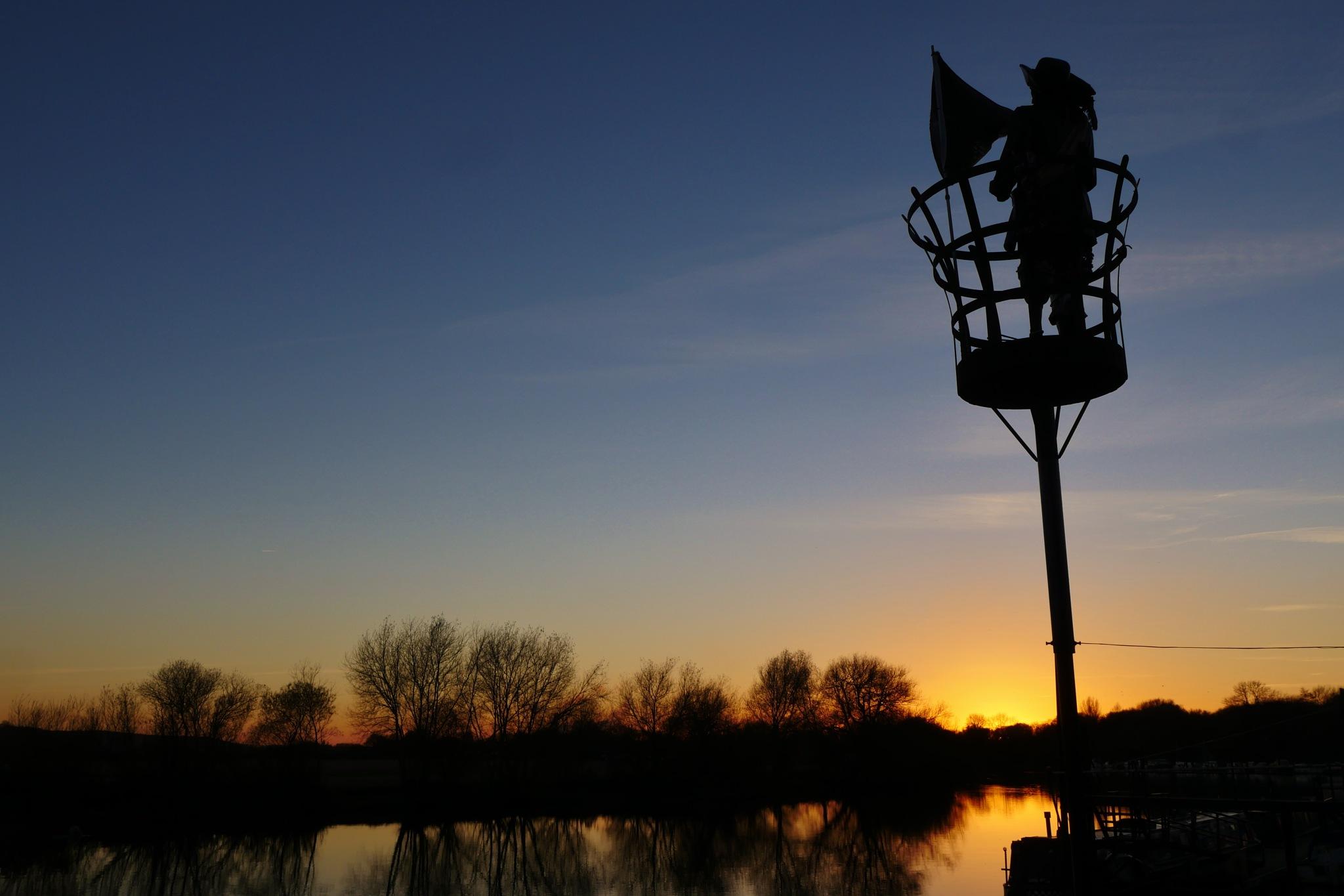 Pirate sunset by AJ Yakstrangler Andy Jamieson
