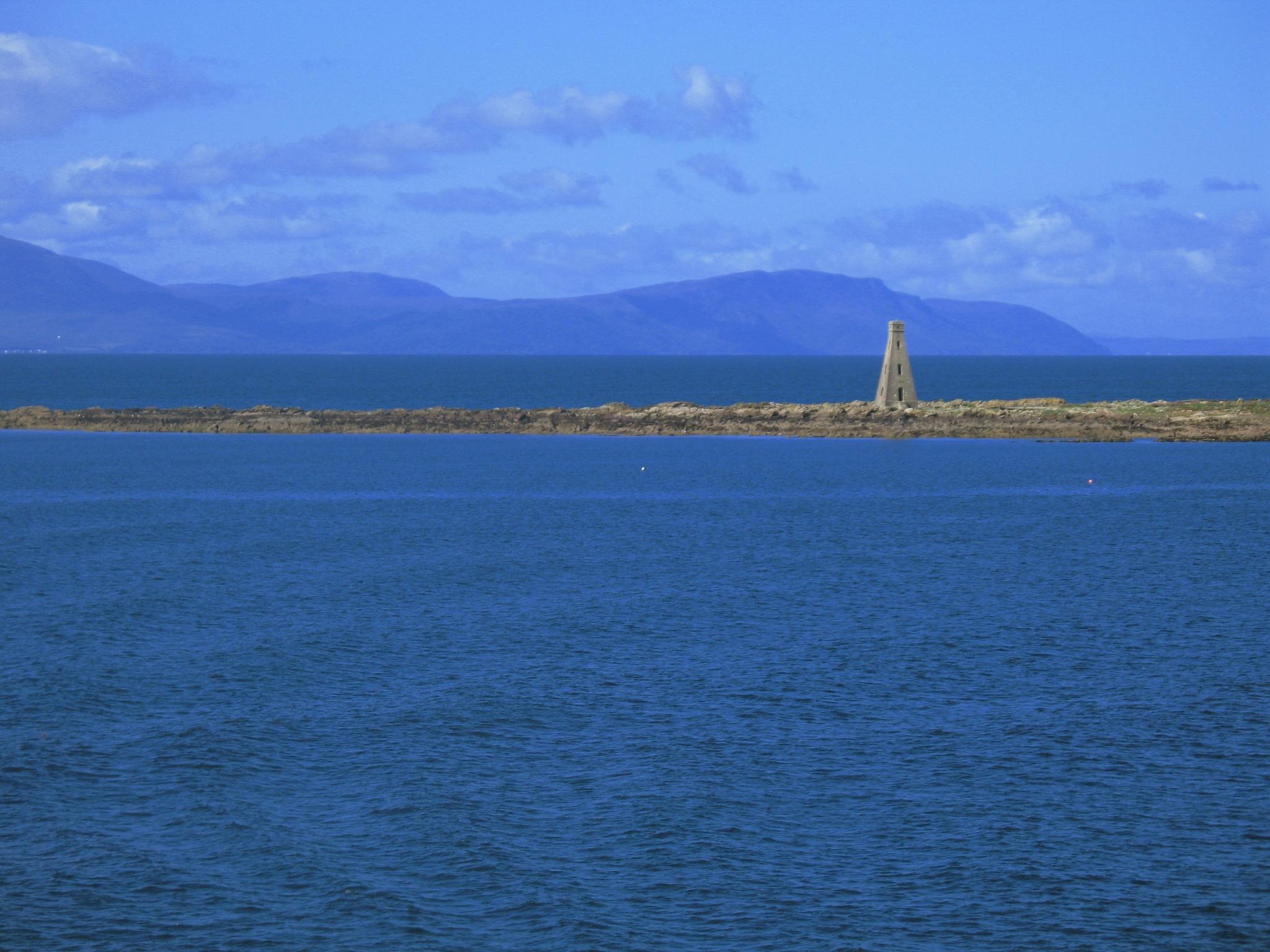 Blue view of Arran by AJ Yakstrangler Andy Jamieson