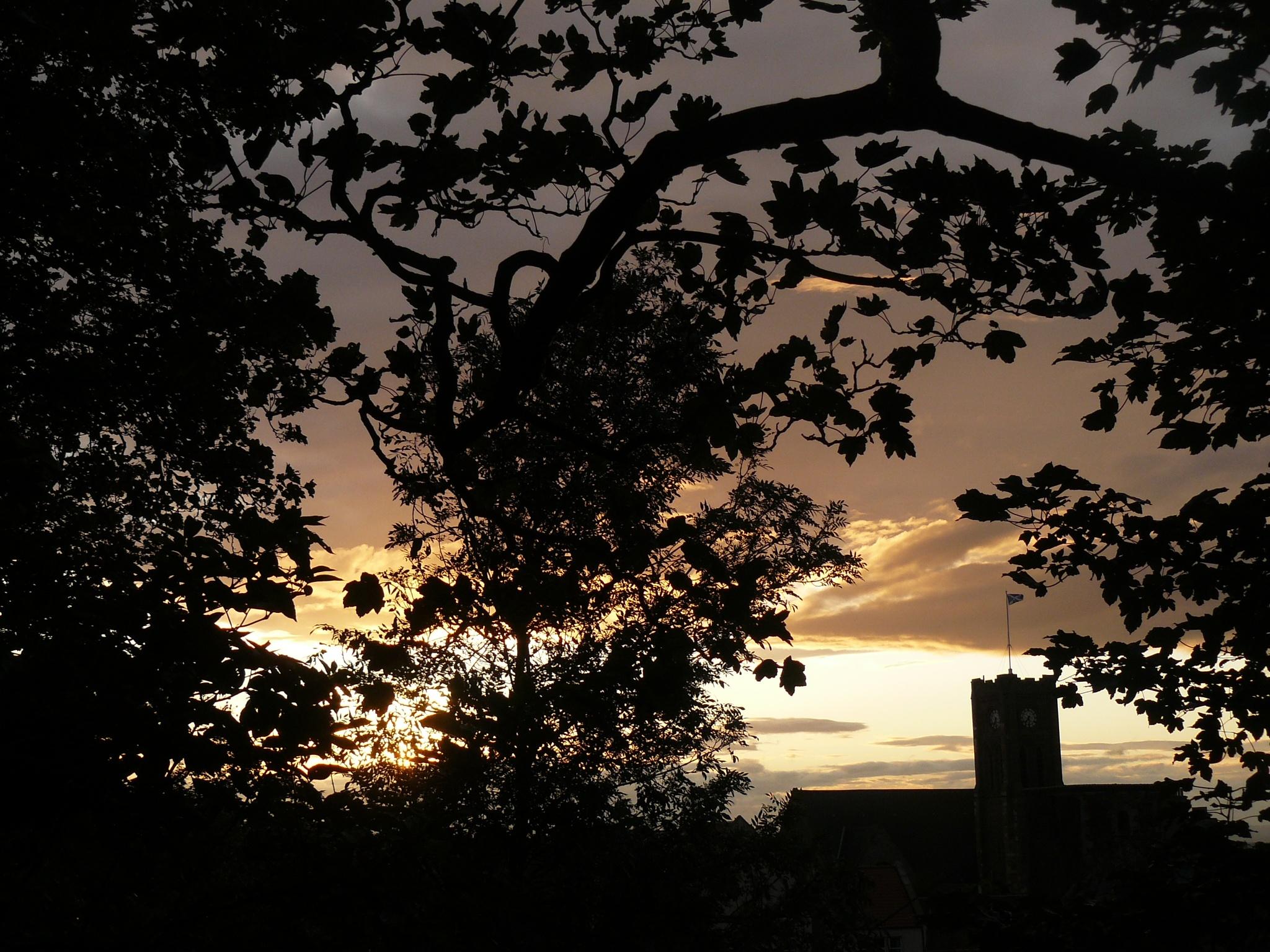 Tower sunset by AJ Yakstrangler Andy Jamieson
