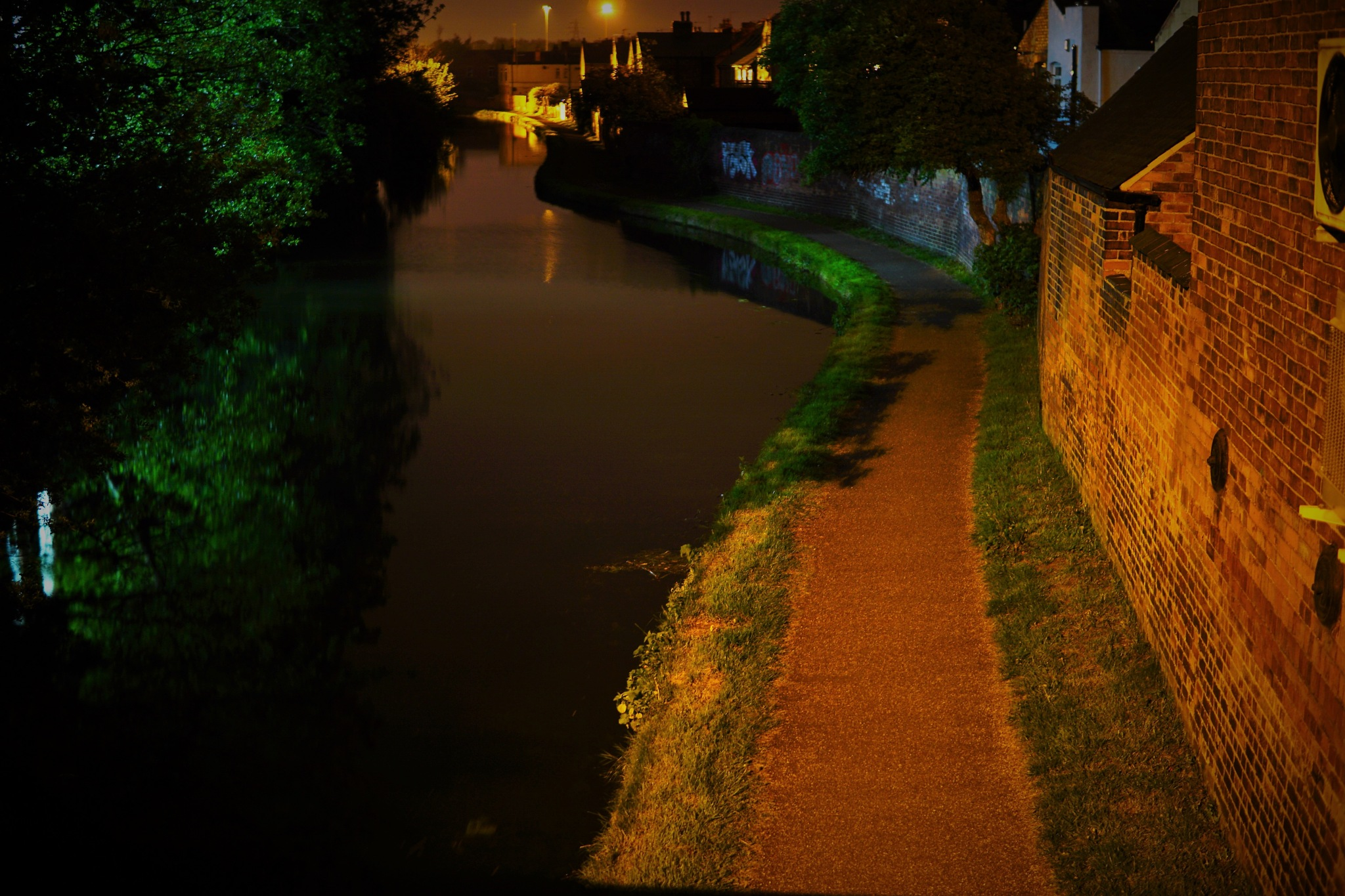 Colourful night canal by AJ Yakstrangler Andy Jamieson