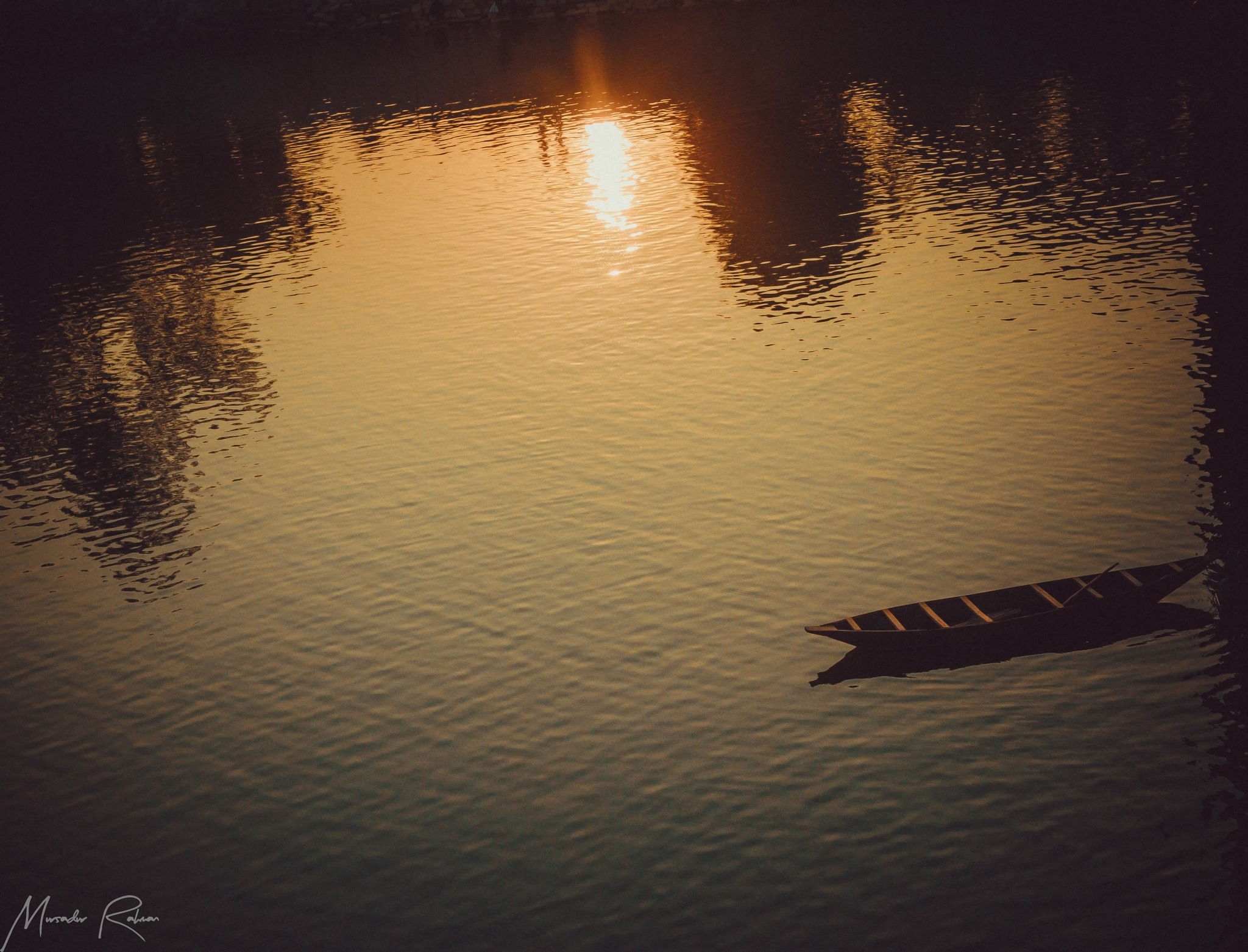 """Before Sunset """"Another-lonely-boat"""" by Mursadur Rahman Akash"""
