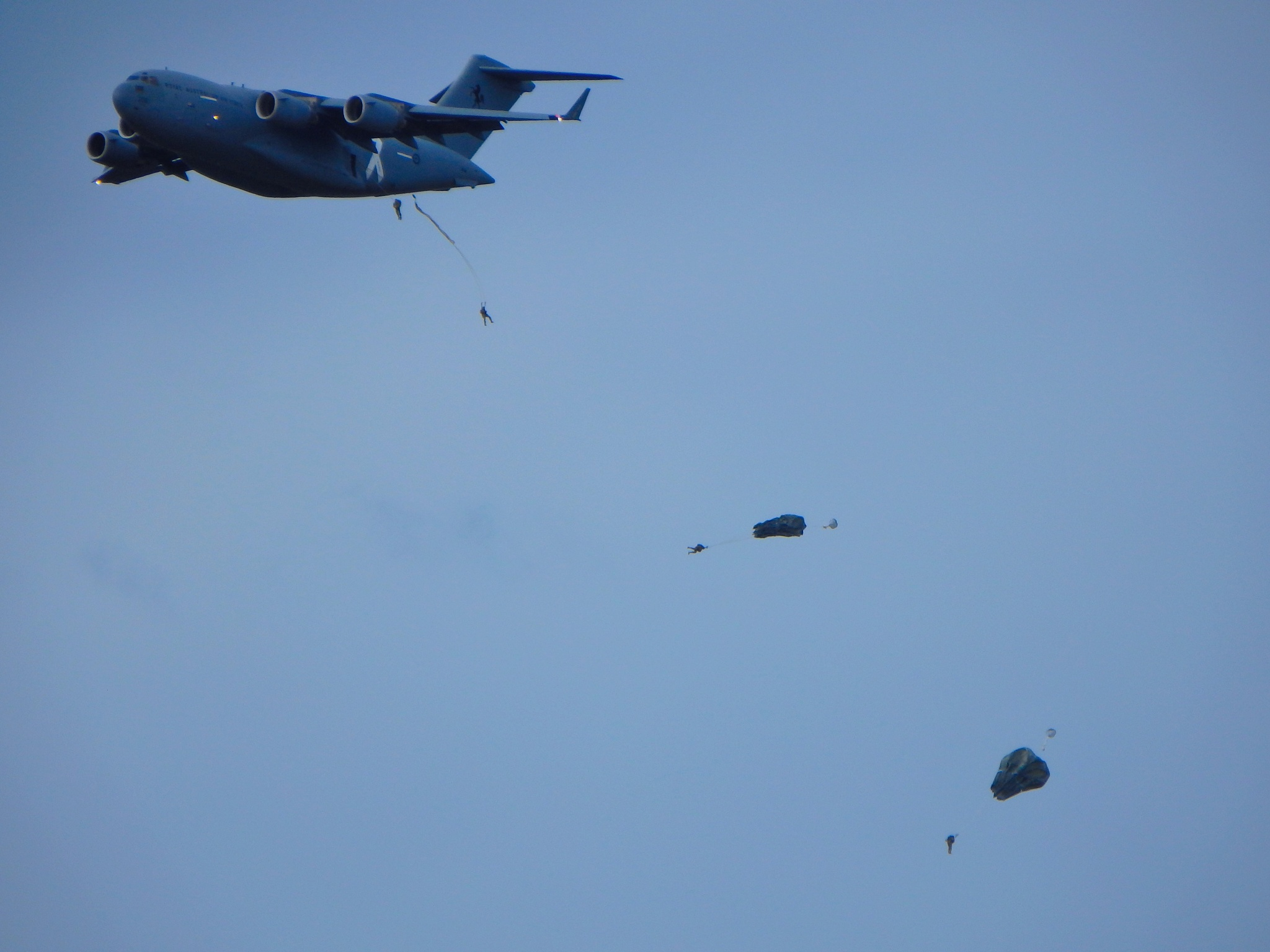 Photo in Random #paratroop #military #c17 #parachute