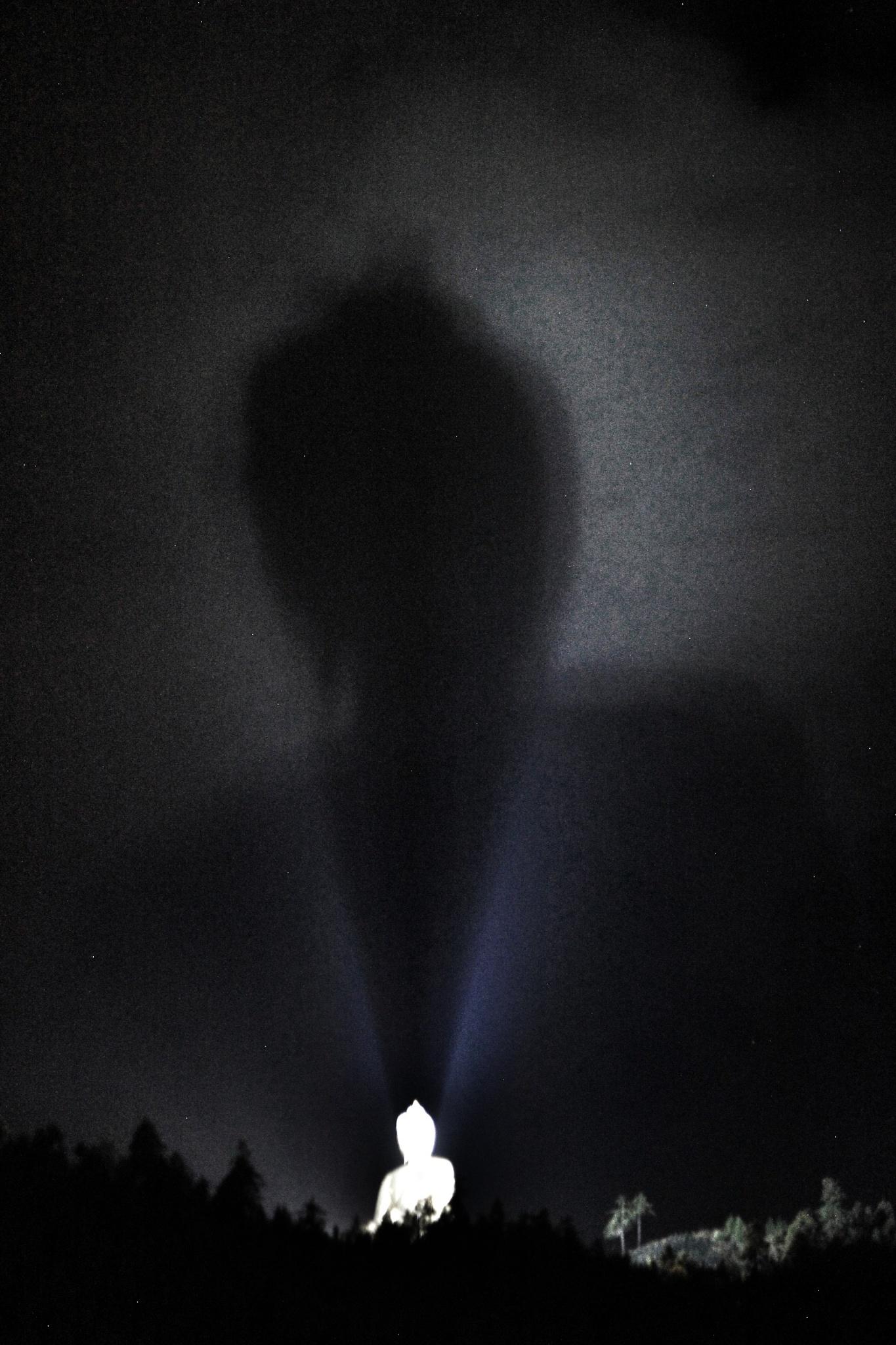 Shadow of Buddha at Night  by Keunzang Deki