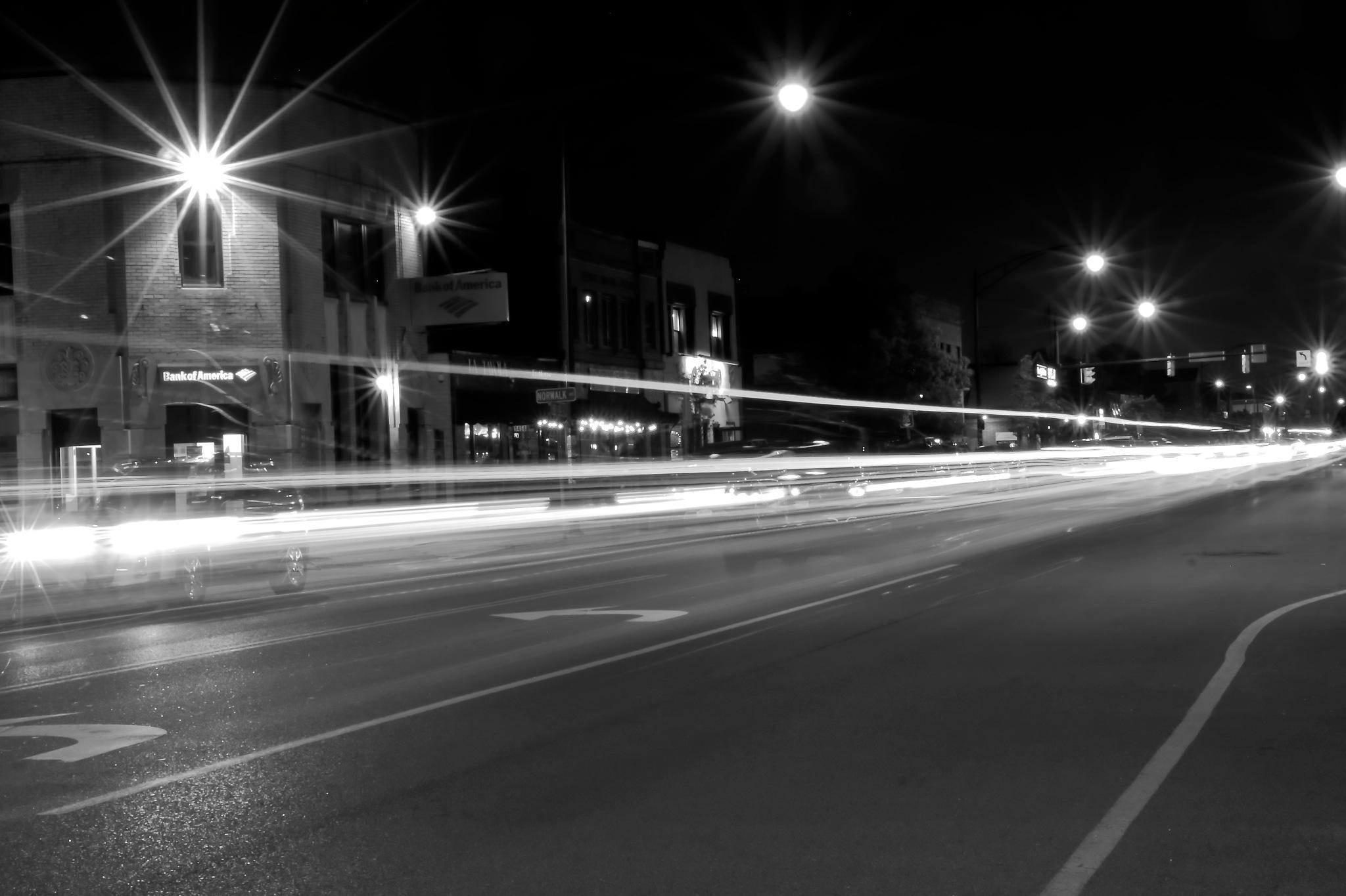 Street at night in Buffalo, New York by Daniel J. Ruggiero
