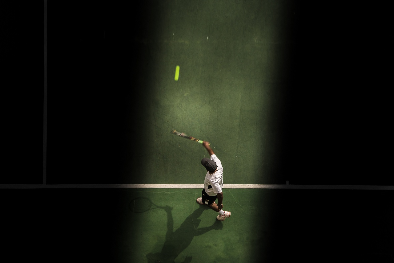Photo in Street Photography #people #play #tenis #ball #court #colors