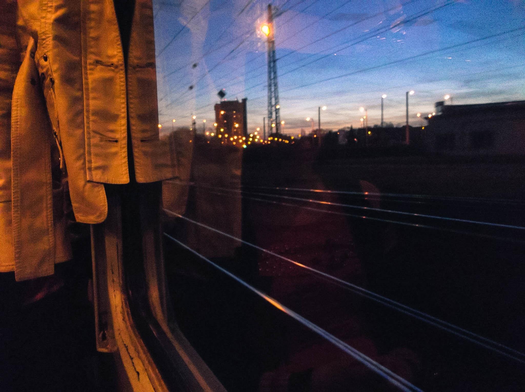 Night train by Balazs Kosaras