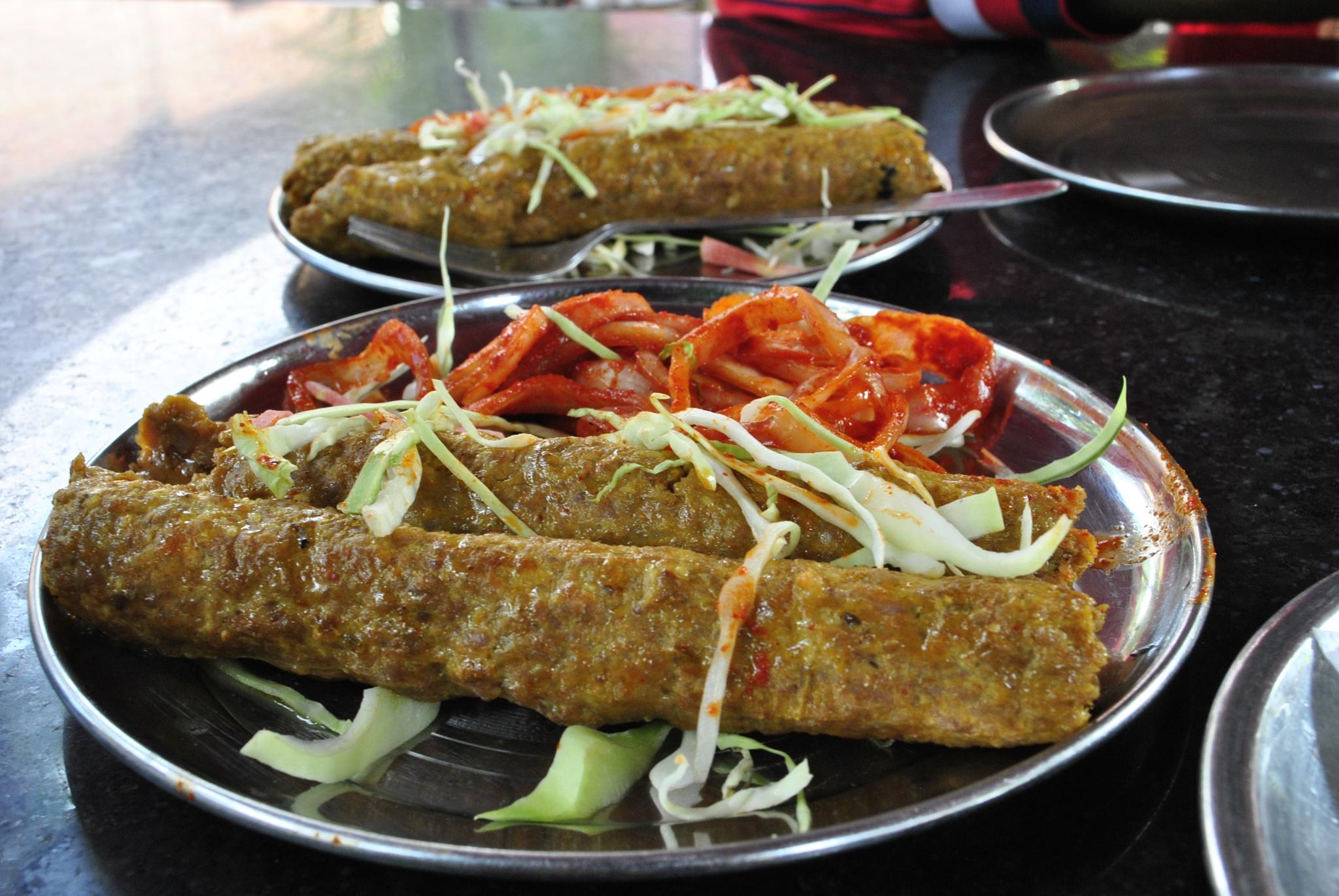 Two Plates of Chicken Seekh Kebab by Jyoti P. Deka
