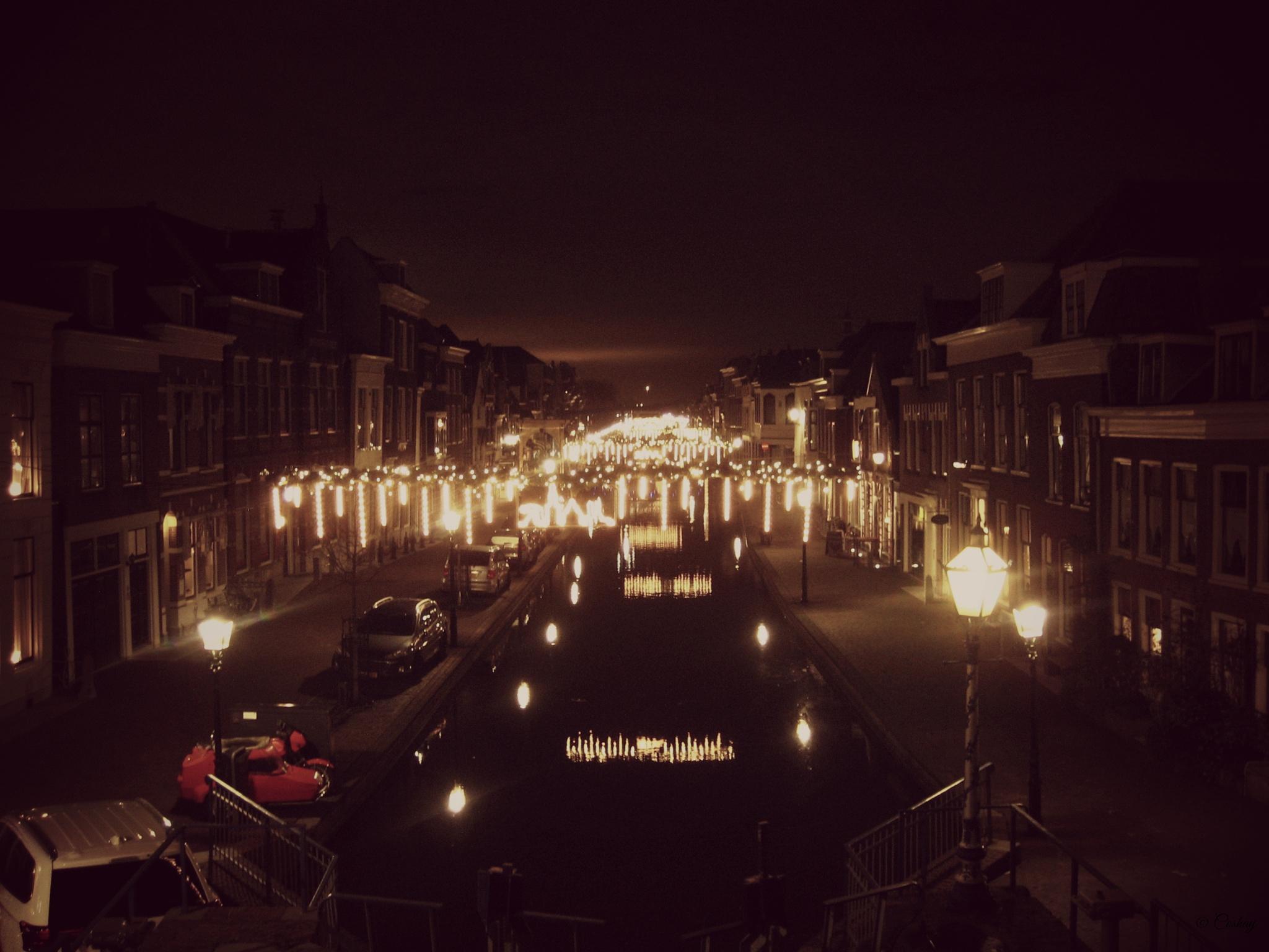 Maassluis by night by Corrie Albers