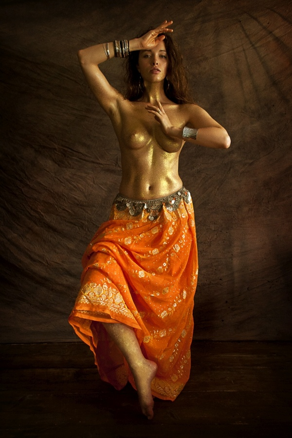 The orange Sari by eye4you