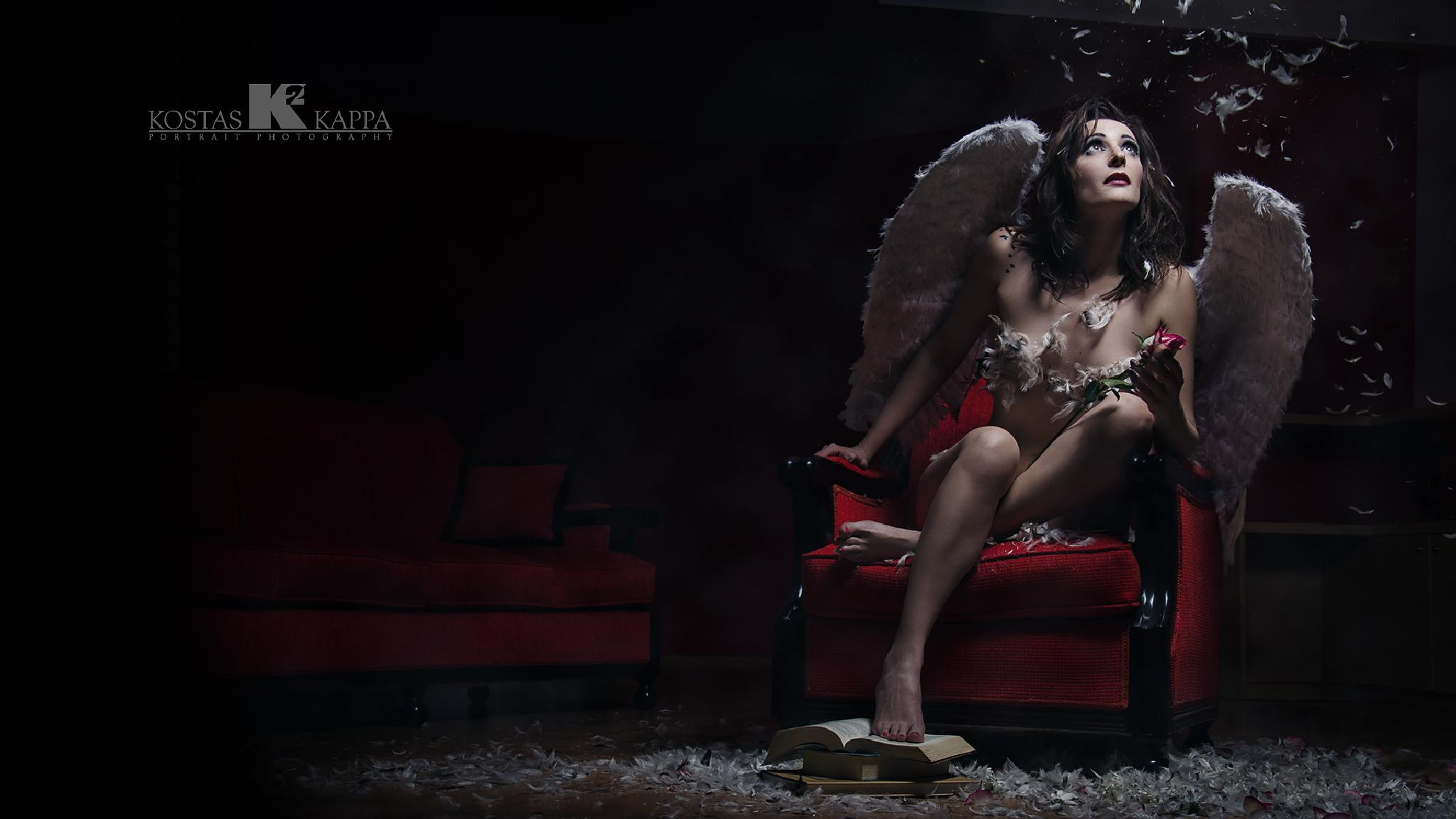 Photo in Portrait #portrait #angel #conceptual #beauty #light #woman