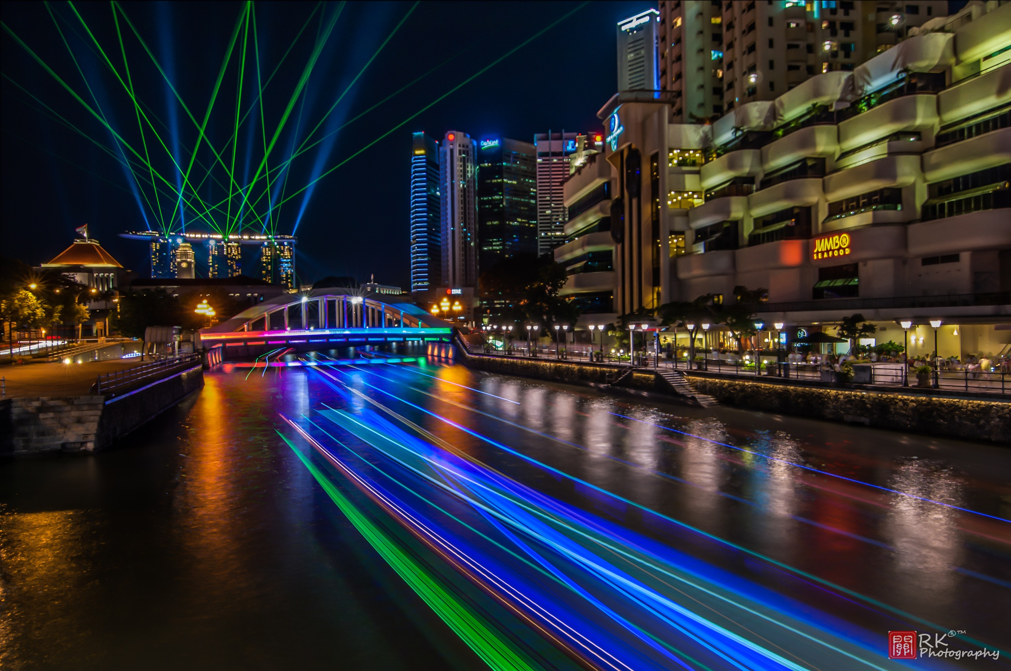 Singapore River Light Trails by Ricky Kuan