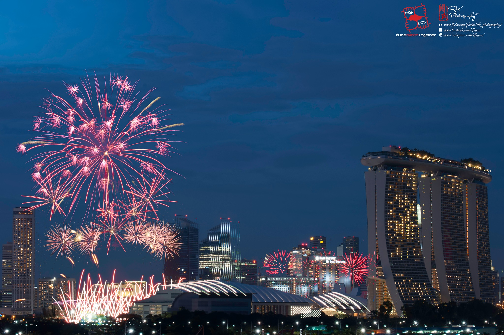 Singapore 52th National Day Fireworks by Ricky Kuan
