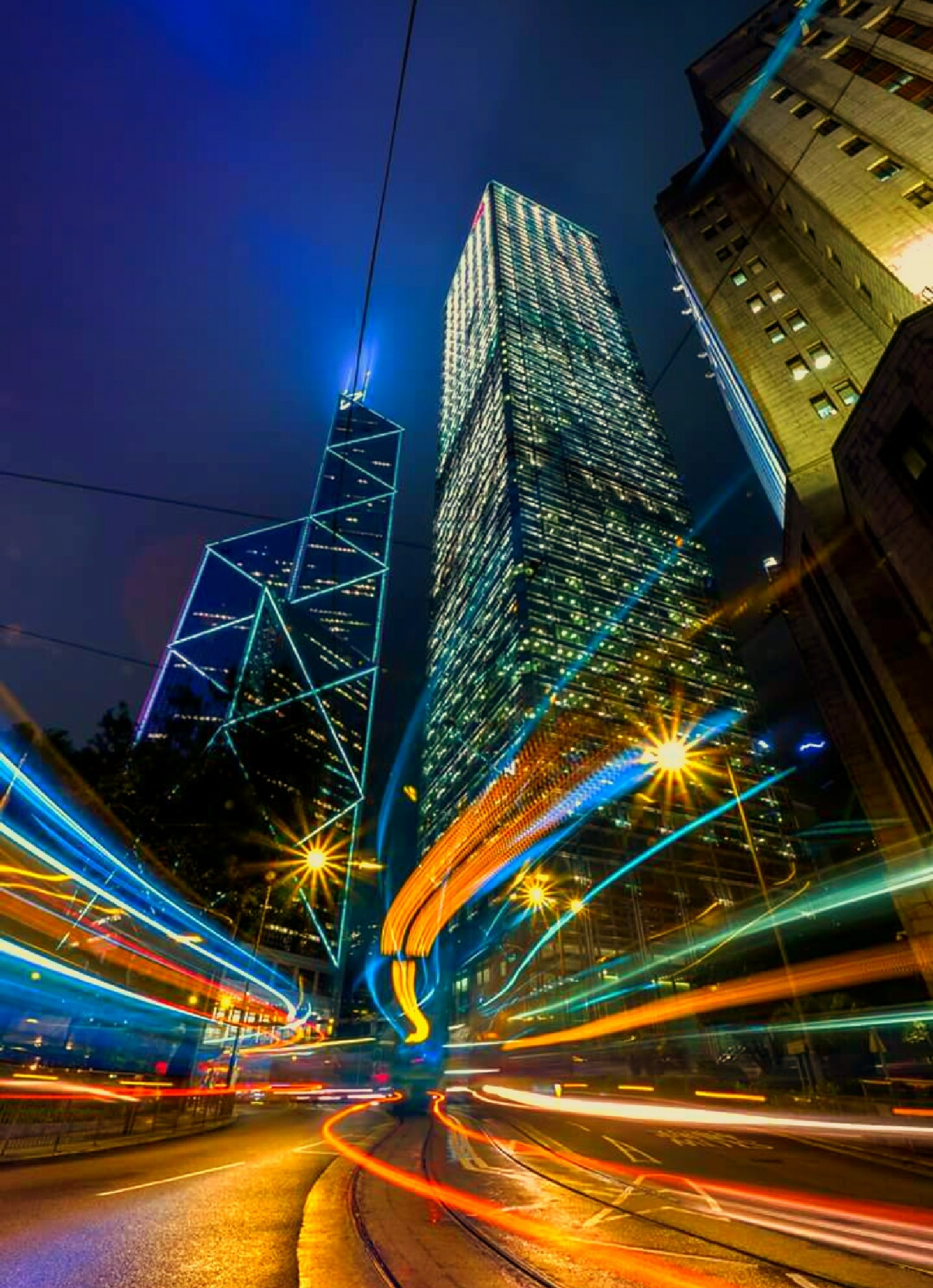 City Night trails by Crystal Chan
