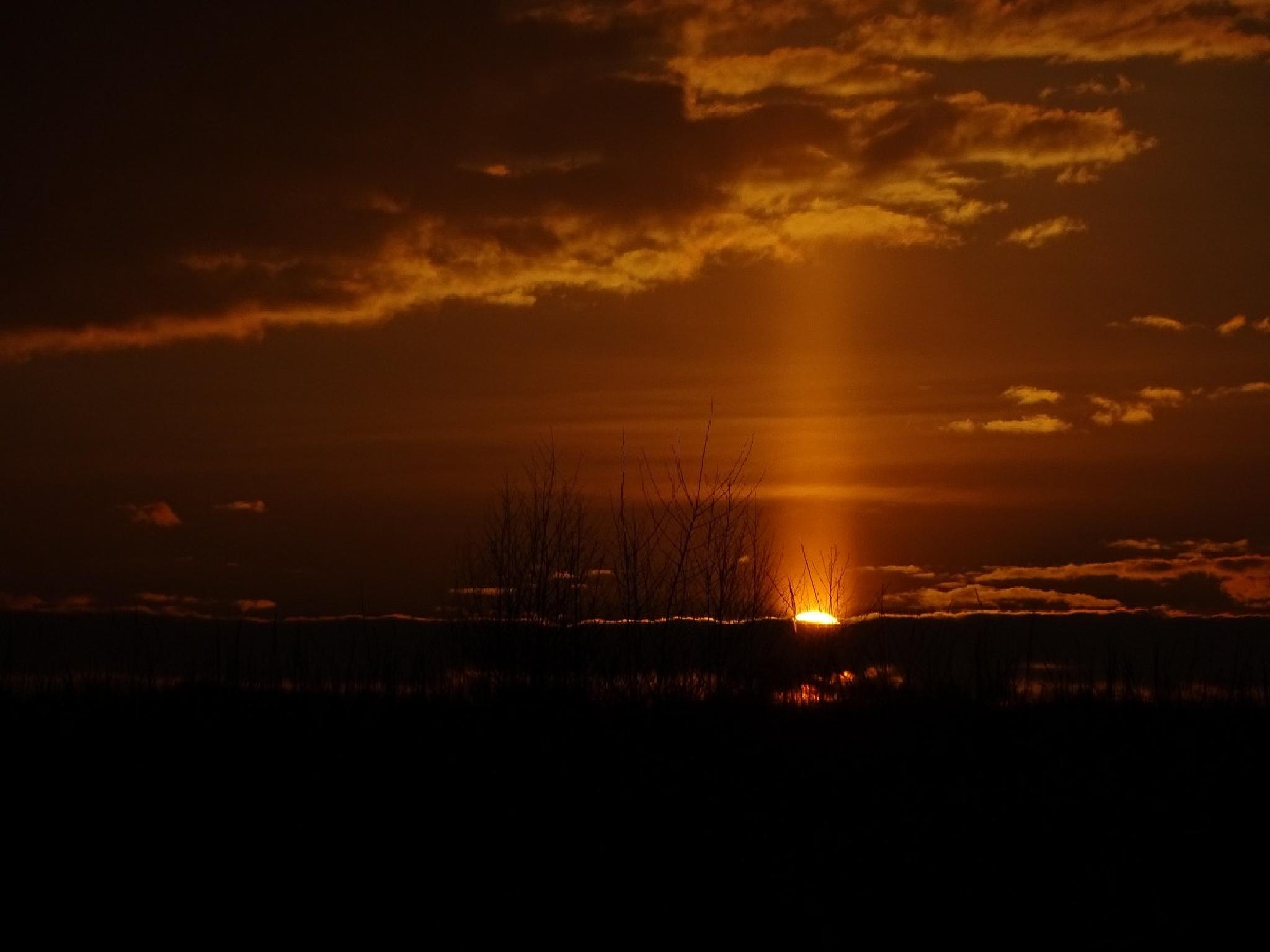 Light pillar by Dundie