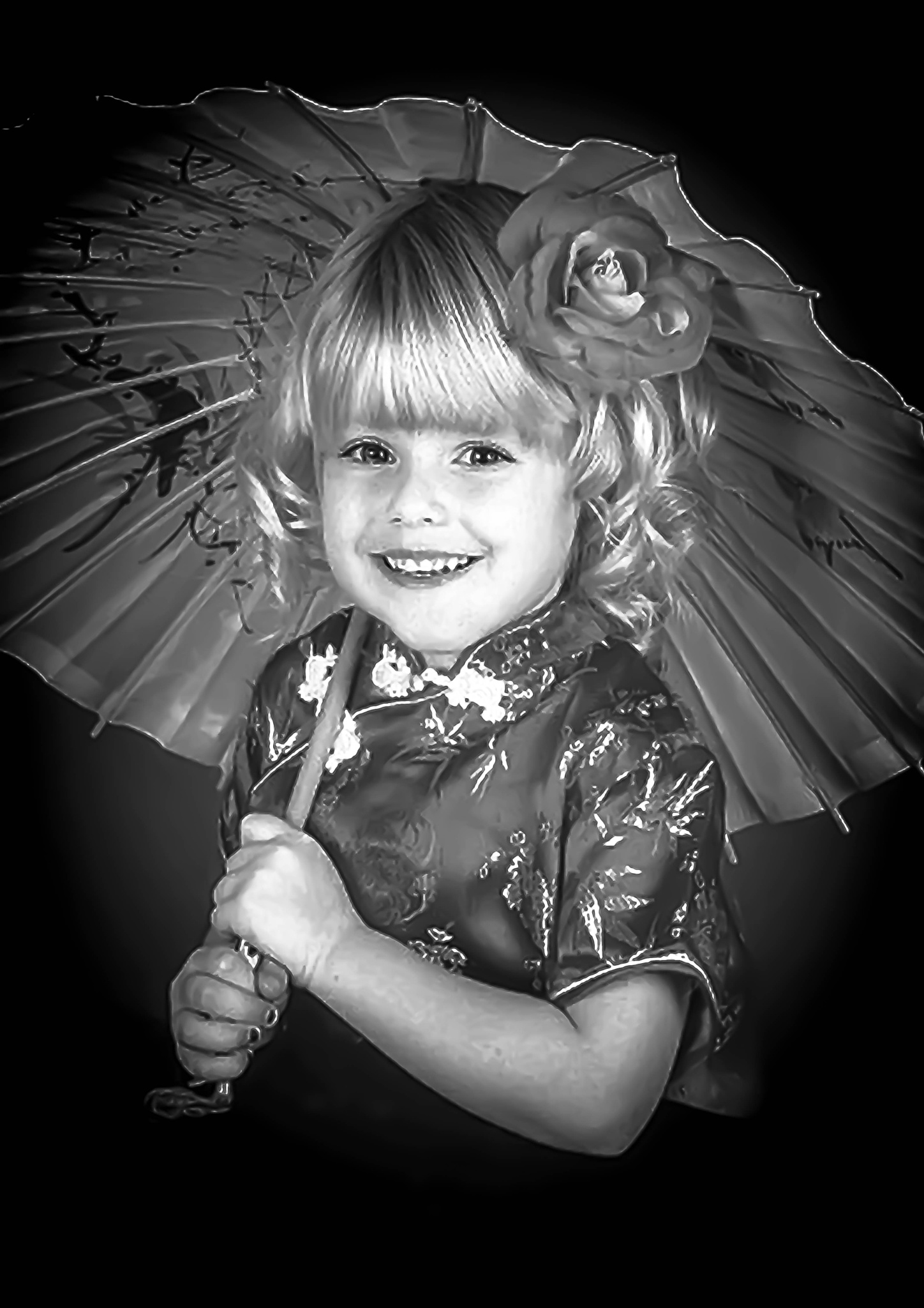 Little girl and her umbrella by ilseBodewes