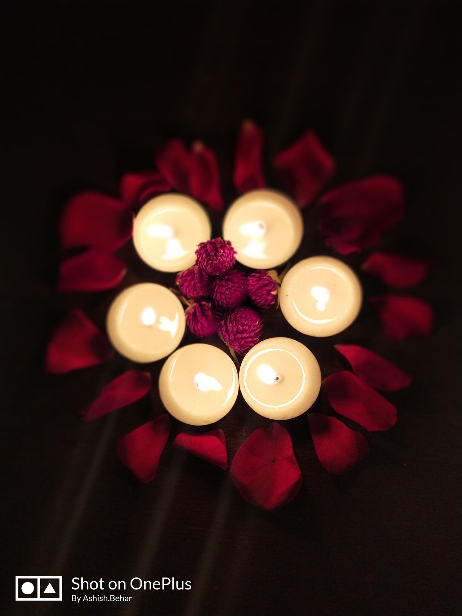 diwali time ..lights and flowet petals.. makes perfect sense by ashish