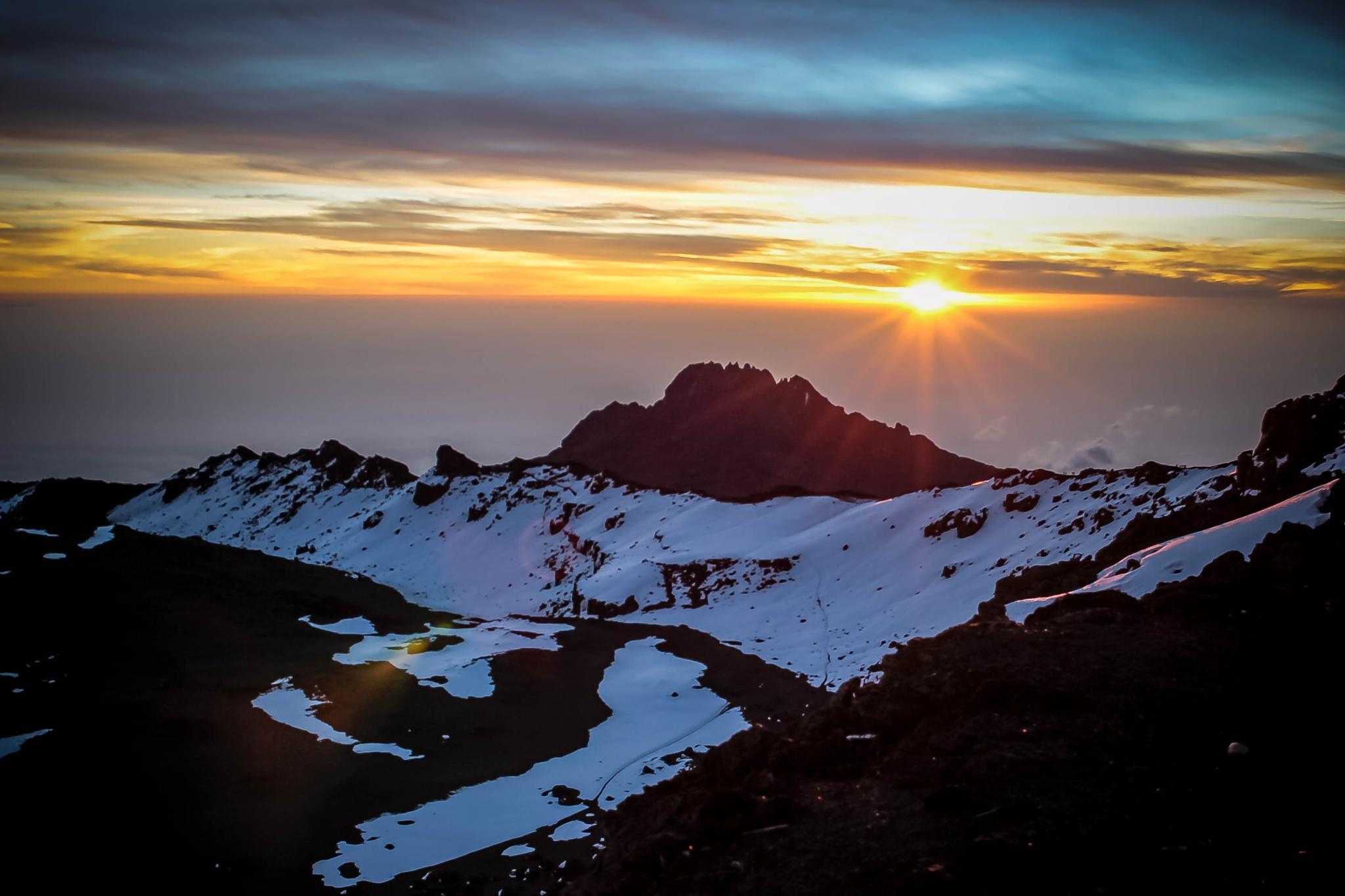 Sunrise @ Kilimanjaro Peak by ashish