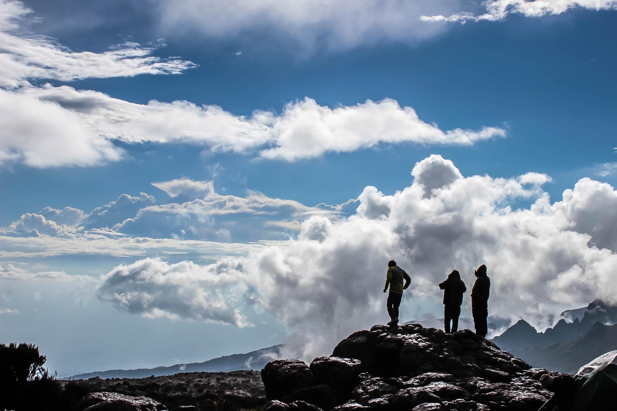 Day-2 of mount kilimanjaro trek @ Sheera-2 by ashish