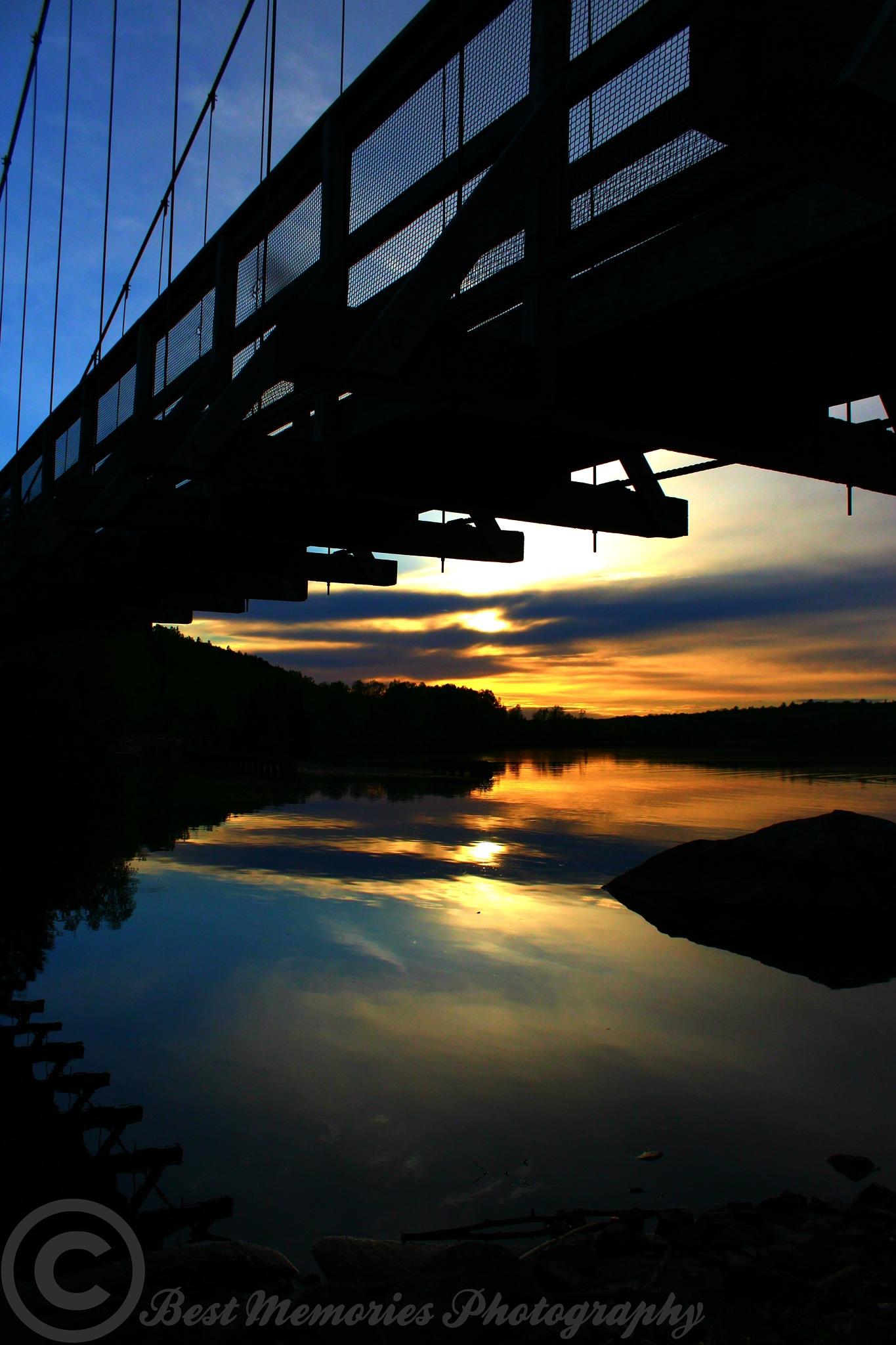 Sunset Under Walking Bridge by Giggles79